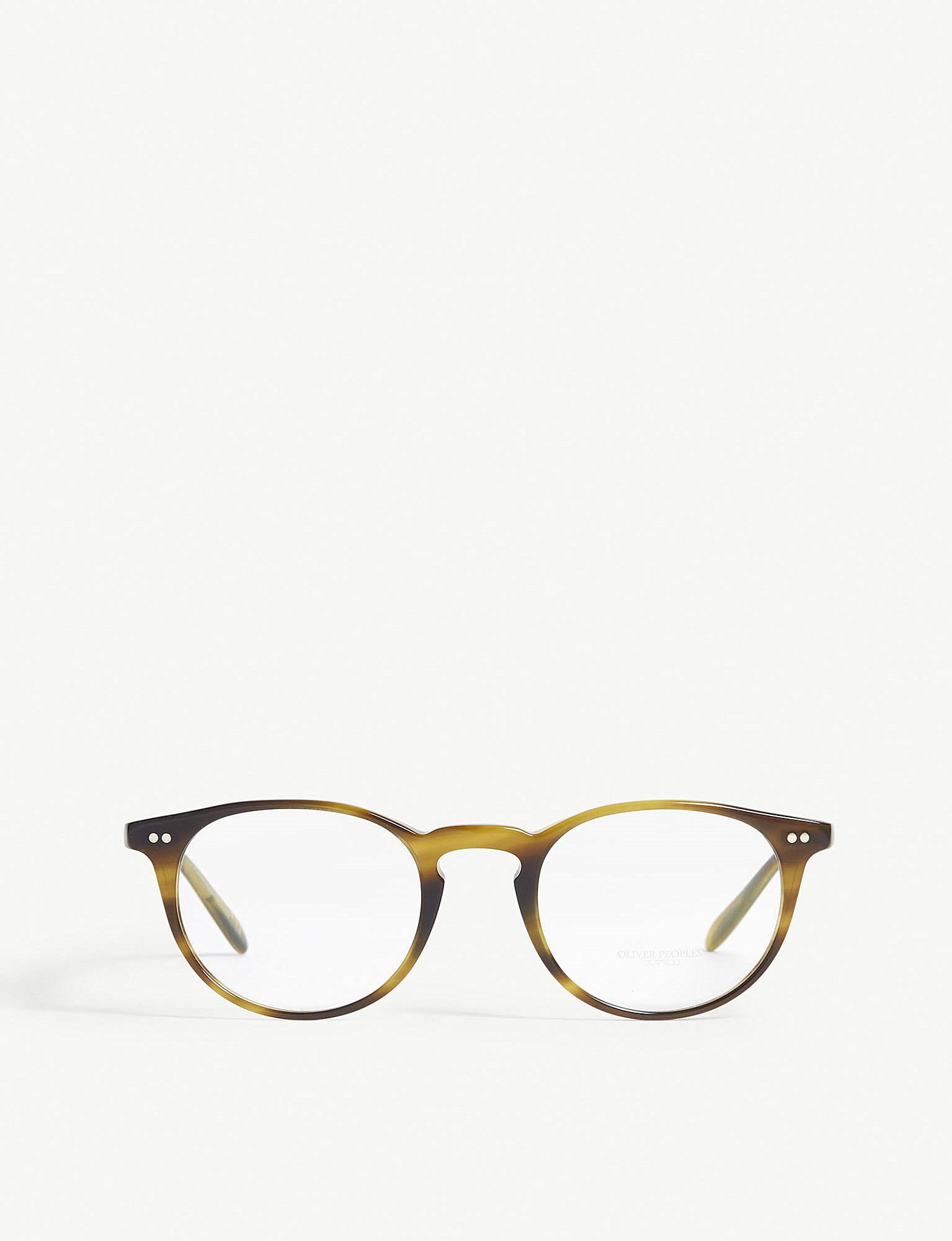 ba04ce5ca7 Lyst - Oliver Peoples Riley-r Round-frame Optical Glasses in Brown