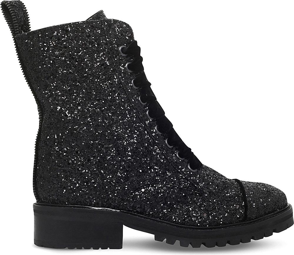 kg by kurt geiger sparkle glitter boots in black lyst