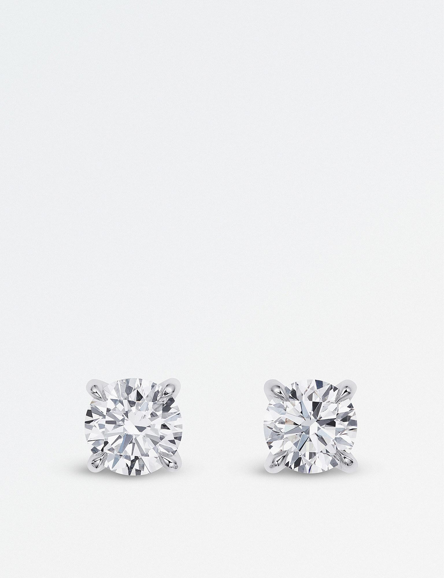 Bucherer Jewellery Women S Metallic Joy 18ct White Gold Diamond Earrings