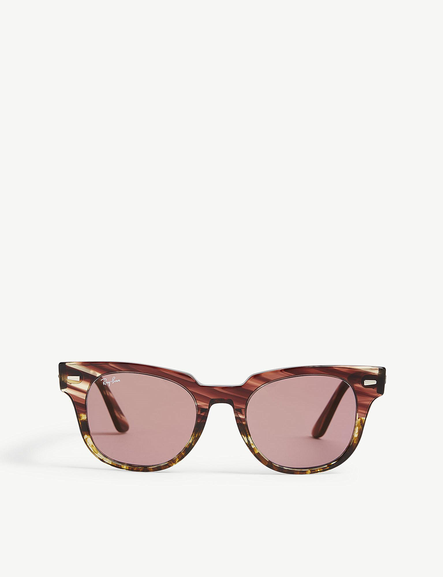 f6ea990492 Lyst - Ray-Ban Rb2168 Meteor Square-frame Sunglasses in Pink