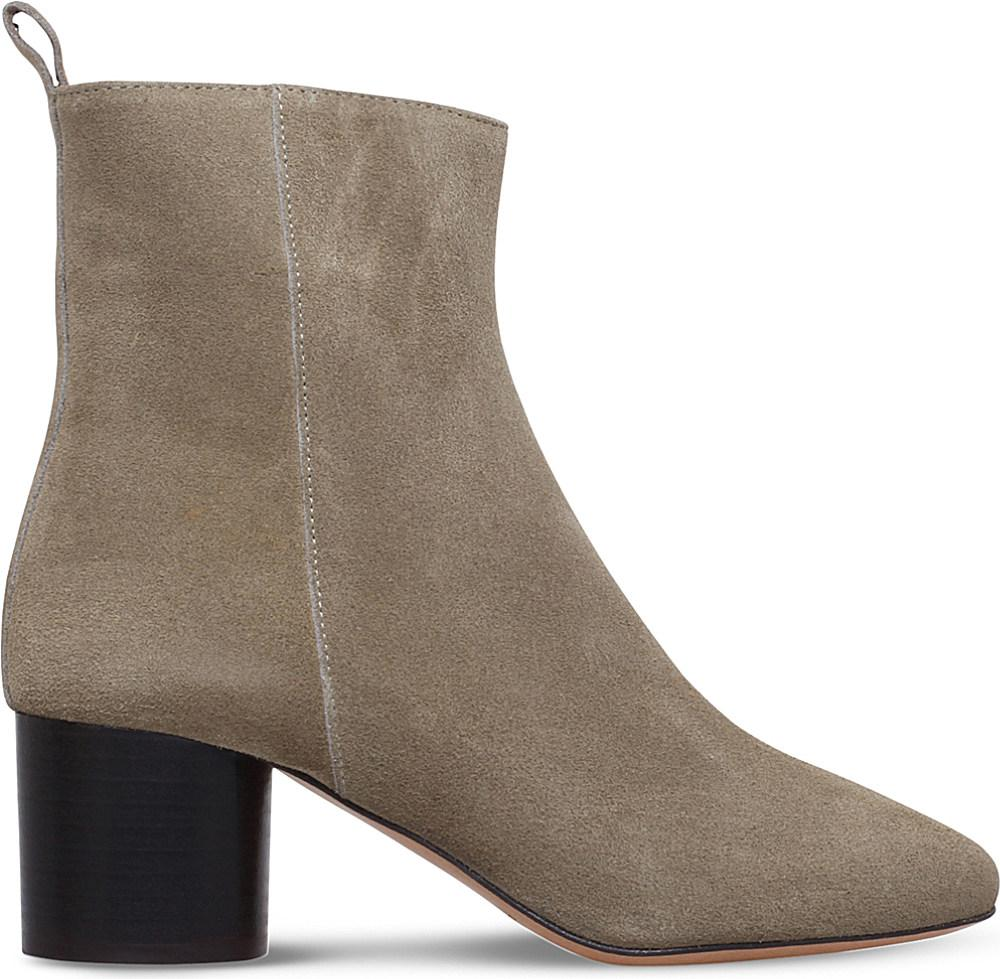 cea90787b7c Étoile Isabel Marant Deyissa Suede Ankle Boots in Brown - Lyst