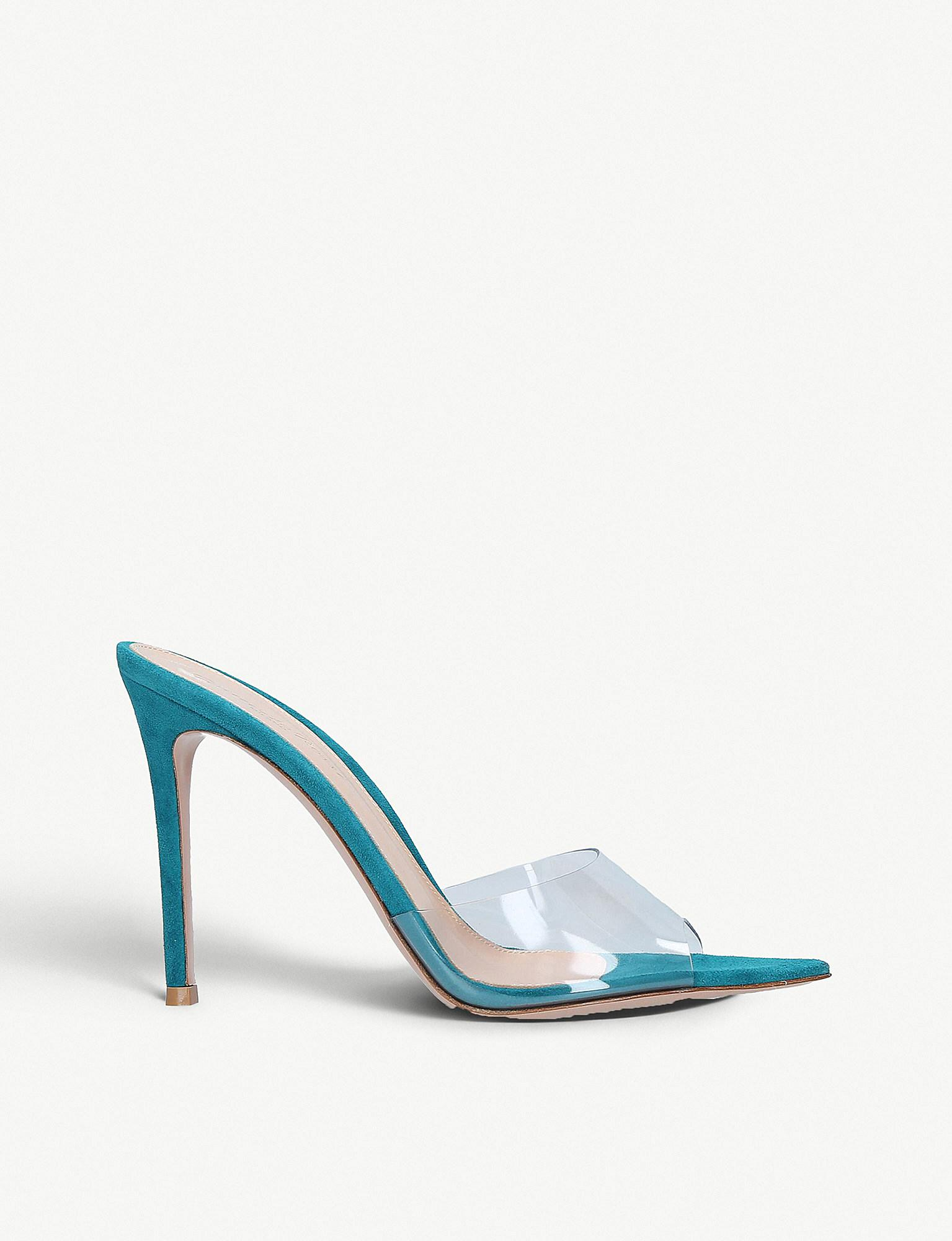 9e848c7ae77 Gianvito Rossi Elle 105 Patent-leather And Pvc Mules in Blue - Lyst
