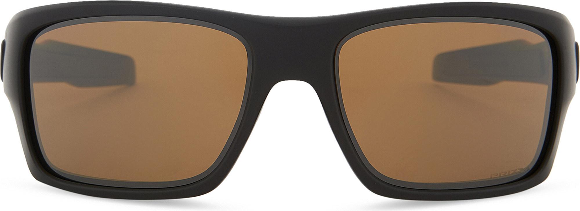 2d73063c45 Oakley. Women s Black Turbine Polarised Prizmtm Square-frame Wrap-around  Sunglasses