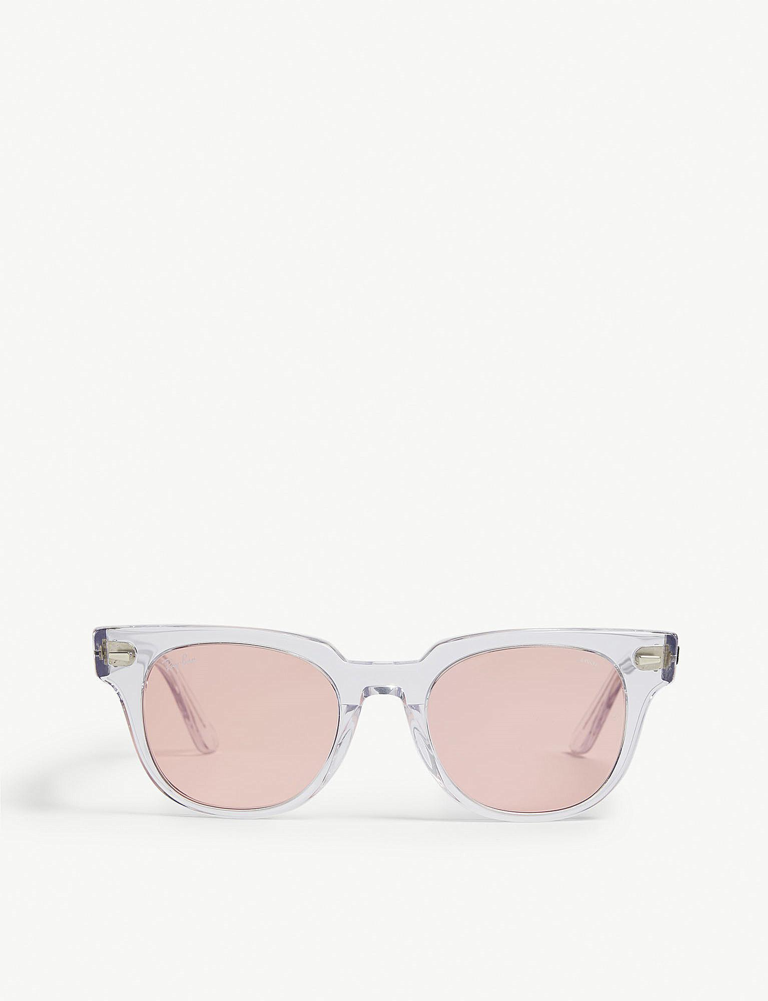 bdfc9beb7021 Lyst - Ray-Ban Rb2168 Meteor Square-frame Sunglasses in Pink