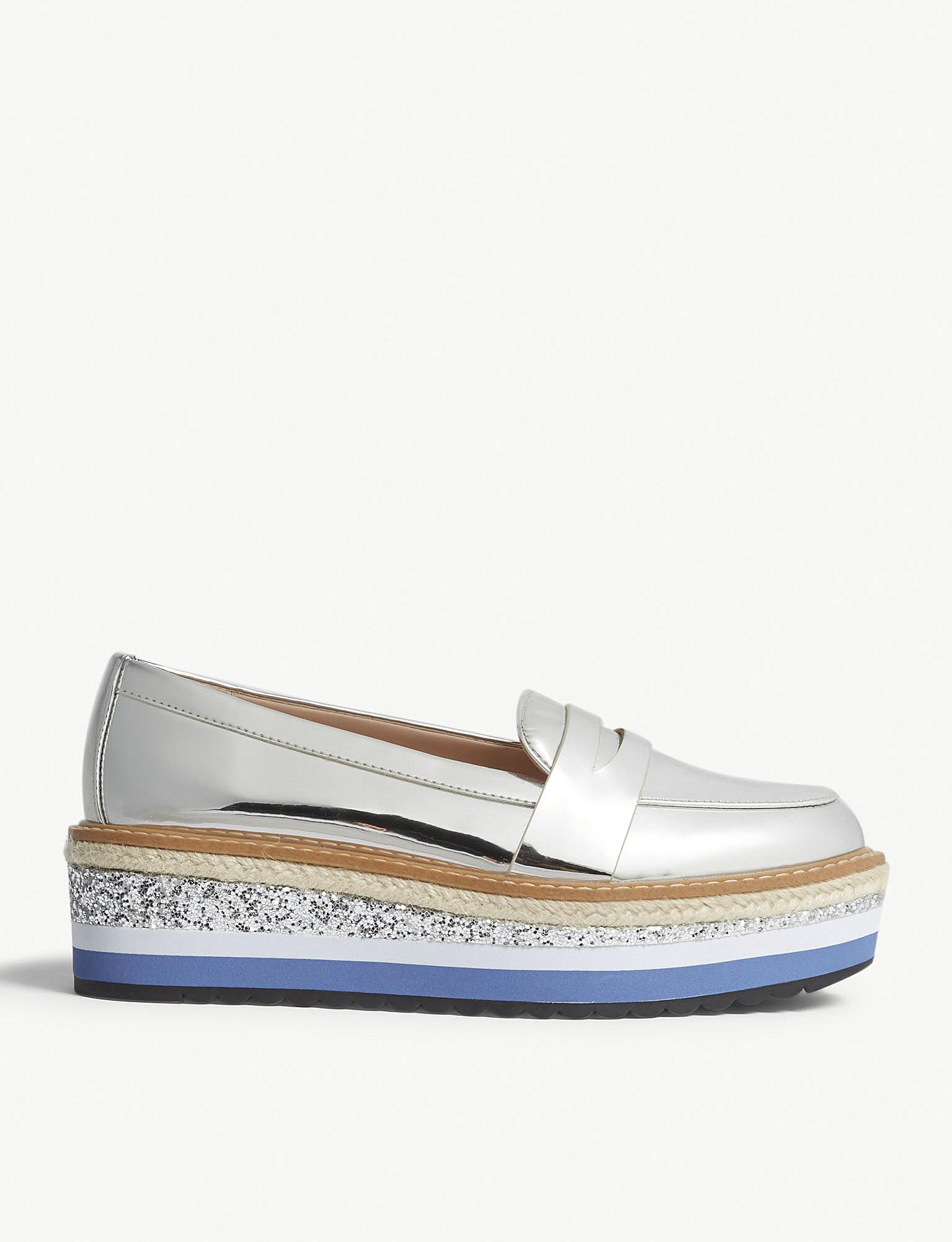 9885e5bb0bc Lyst - ALDO Ibaresen Flatform Loafers in Metallic