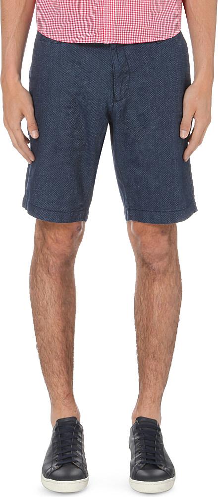 tommy hilfiger brooklyn regular fit cotton shorts in blue. Black Bedroom Furniture Sets. Home Design Ideas