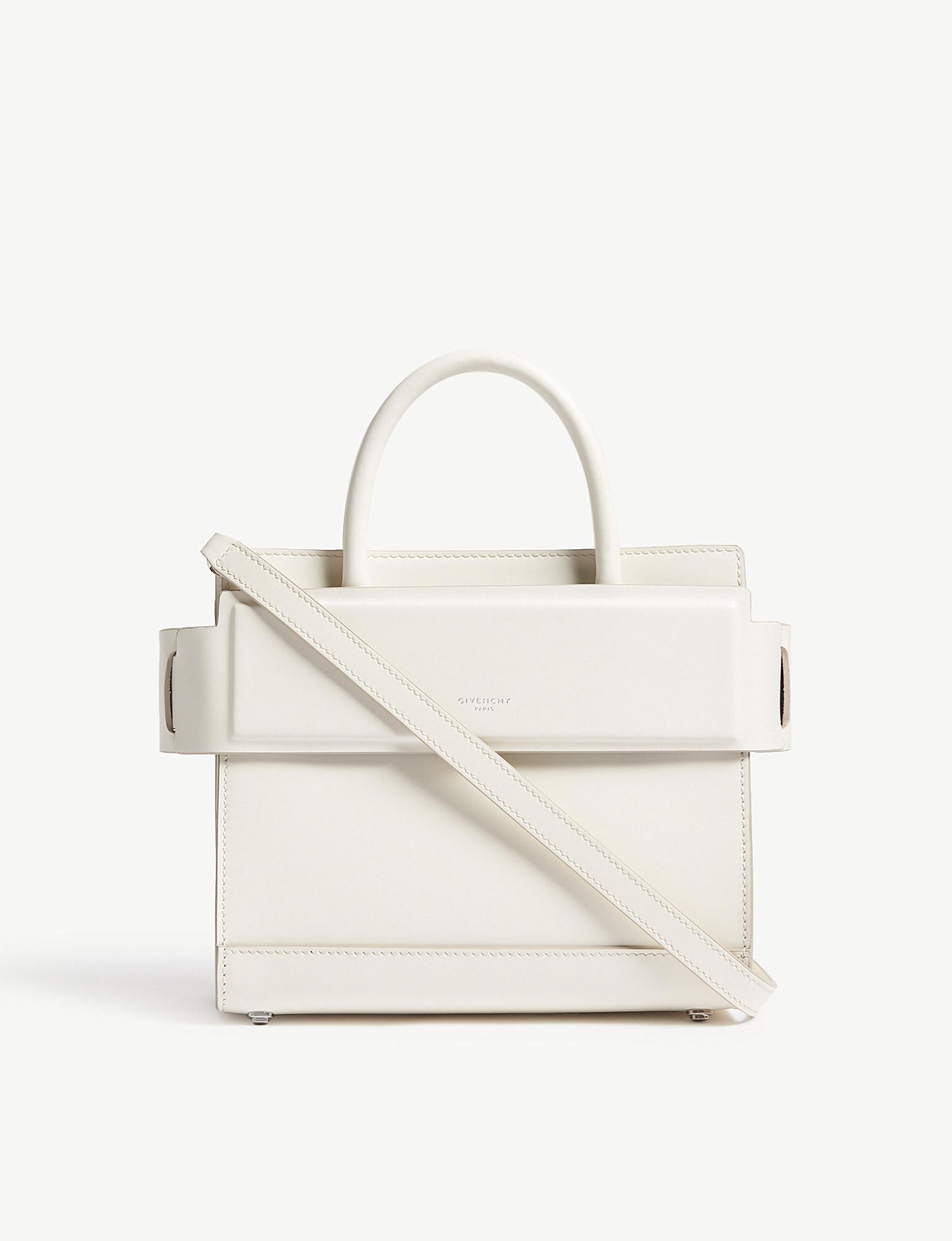 e14b9c01d6f Lyst - Givenchy Horizon Mini Leather Cross-body Bag in White