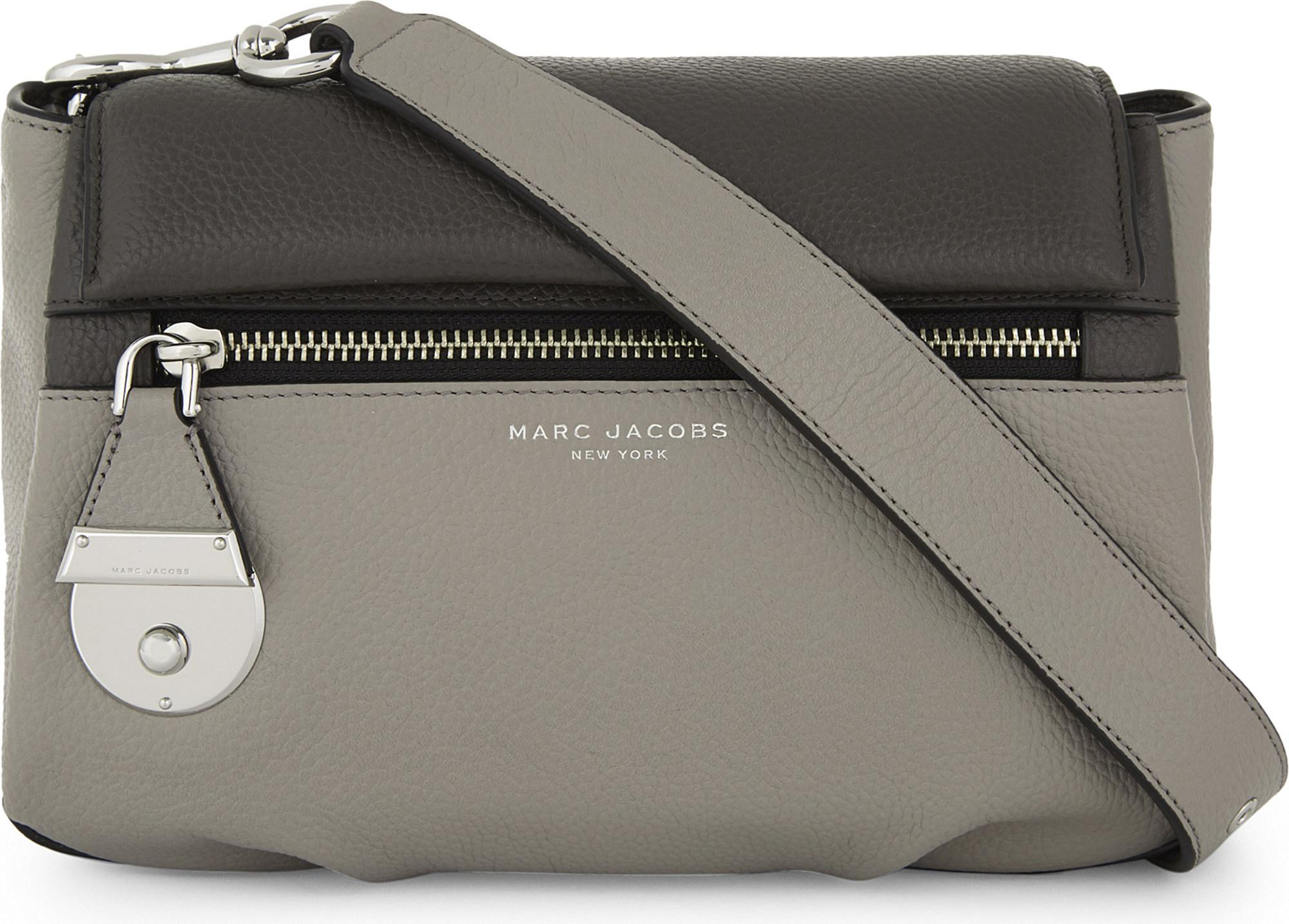 023d5ff76f Marc Jacobs The Standard Mini Leather Shoulder Bag in Gray - Lyst