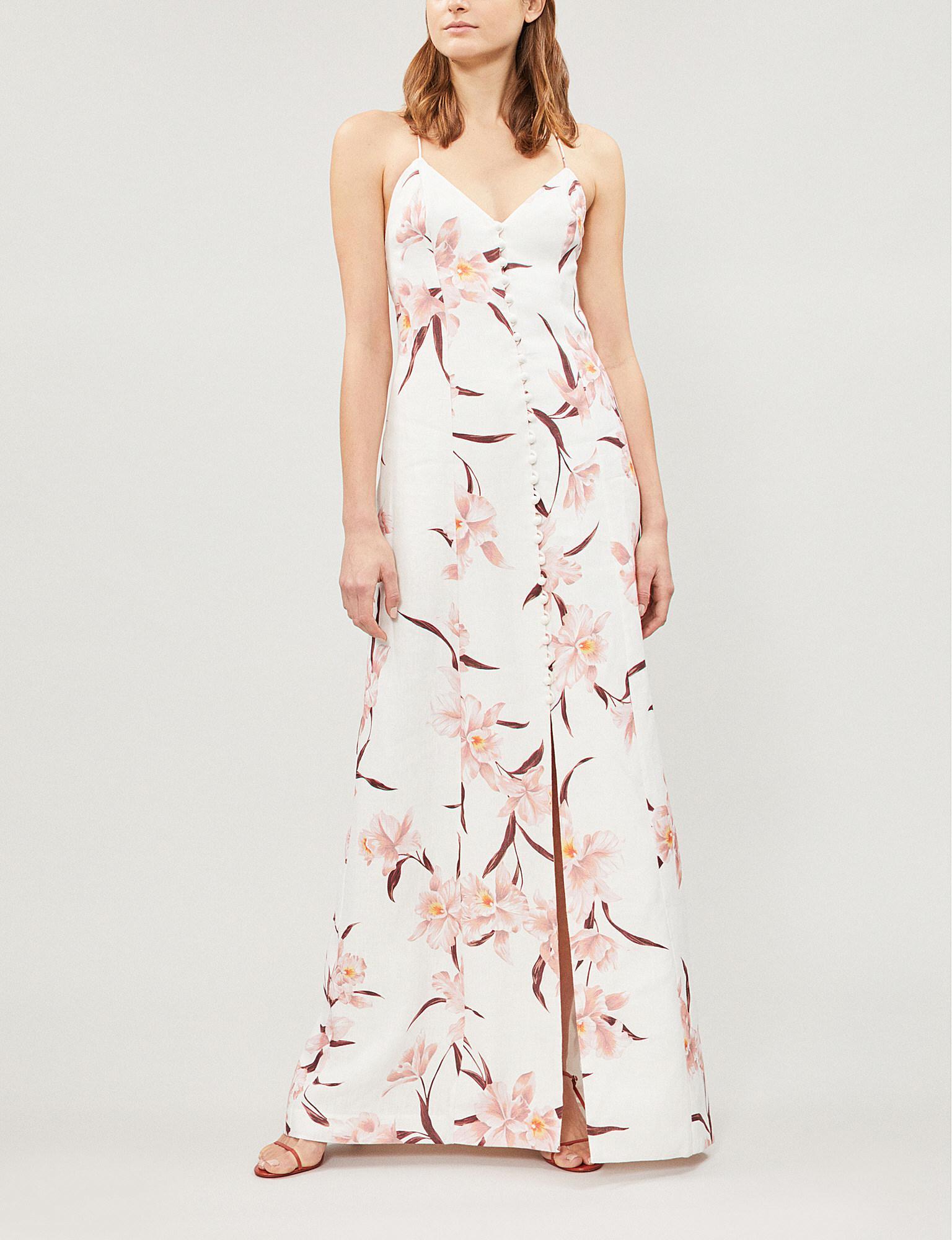 a9d39c26a34b Zimmermann. Women s Corsage Floral-print Linen Maxi Dress