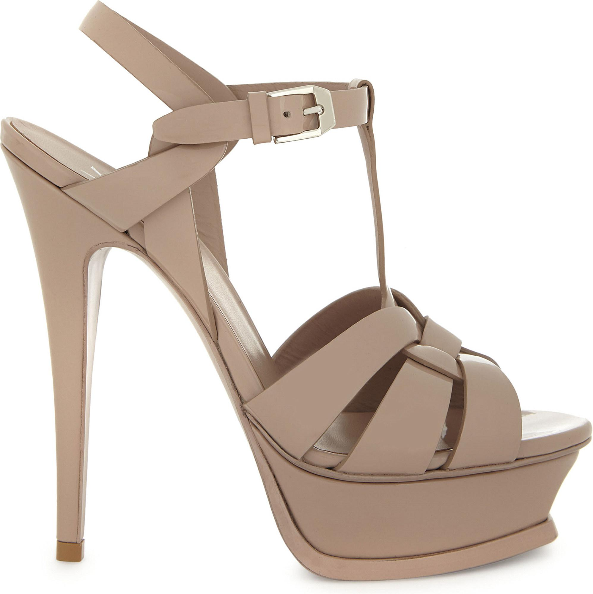ce024dacc8de8 Saint Laurent. Women s Tribute 105 Patent-leather Sandals