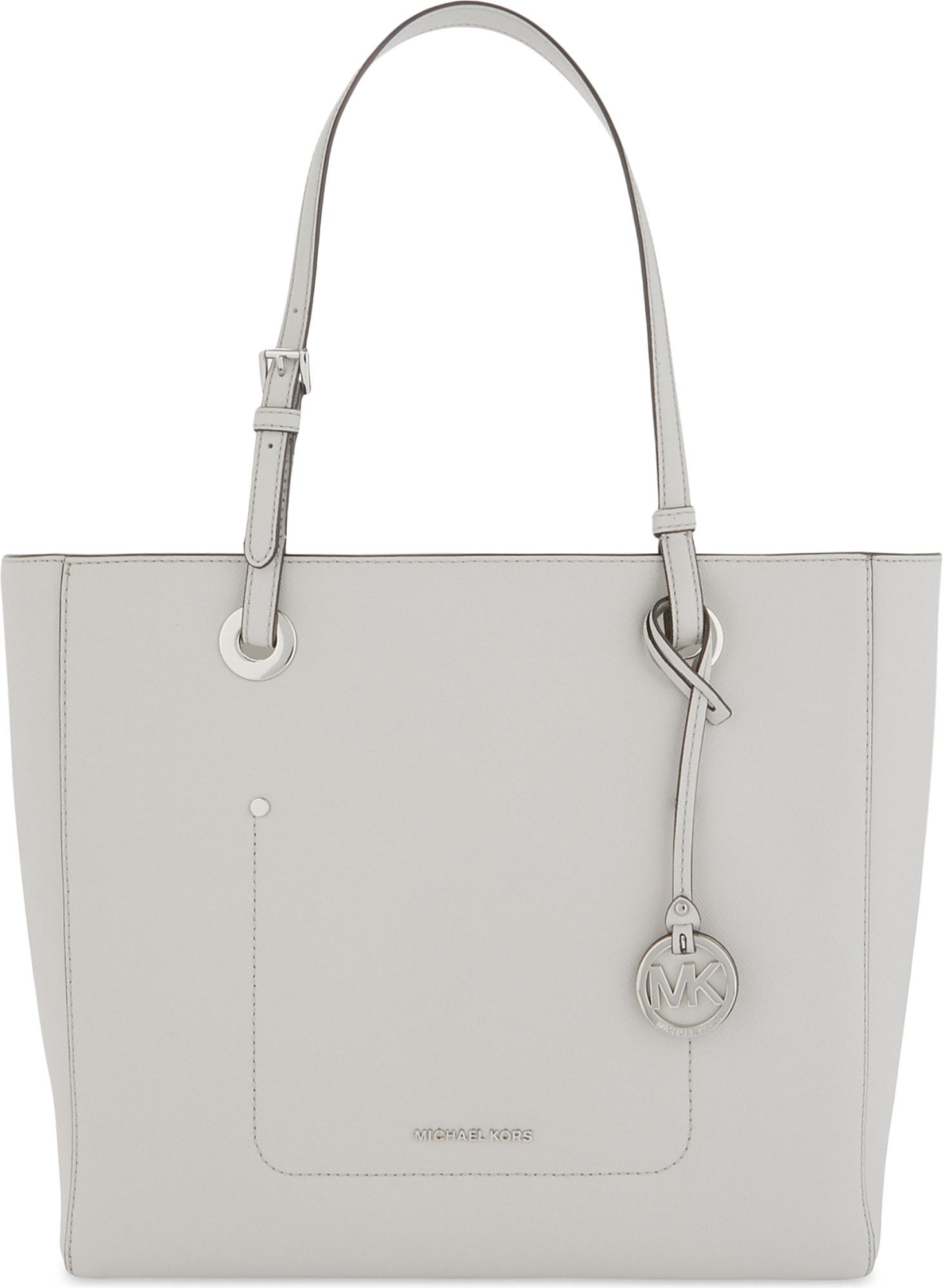 fe53361ef28d72 Lyst - MICHAEL Michael Kors Walsh Large Leather Tote in White
