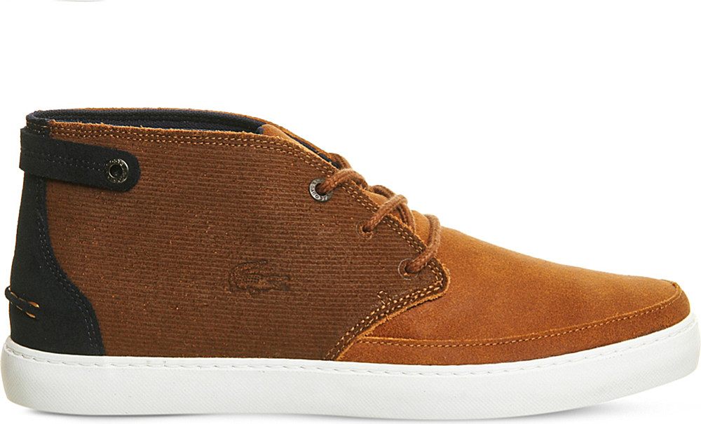 0a7861ec159644 Lyst - Lacoste Clavel Suede Chukka Boots in Brown for Men
