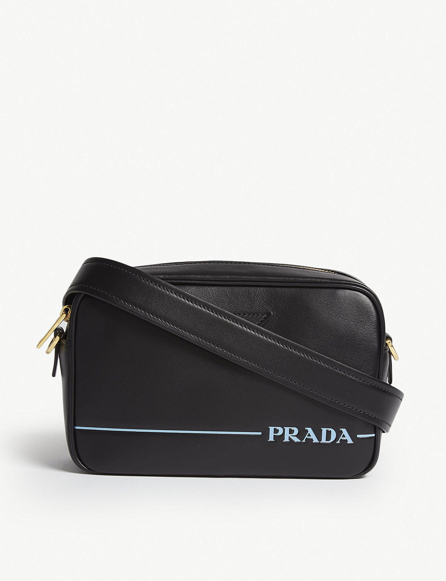 cbe912f7d1cd Prada - Black Leather Camera Cross Body Bag - Lyst. View fullscreen
