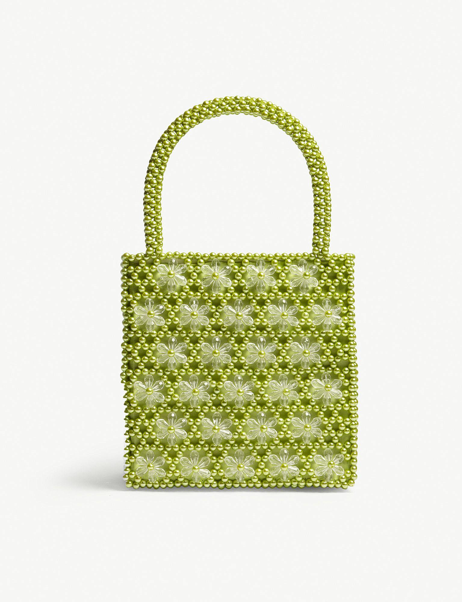Shrimps S Acc Venezia Bead Bag in Green - Lyst 09d04910403a6