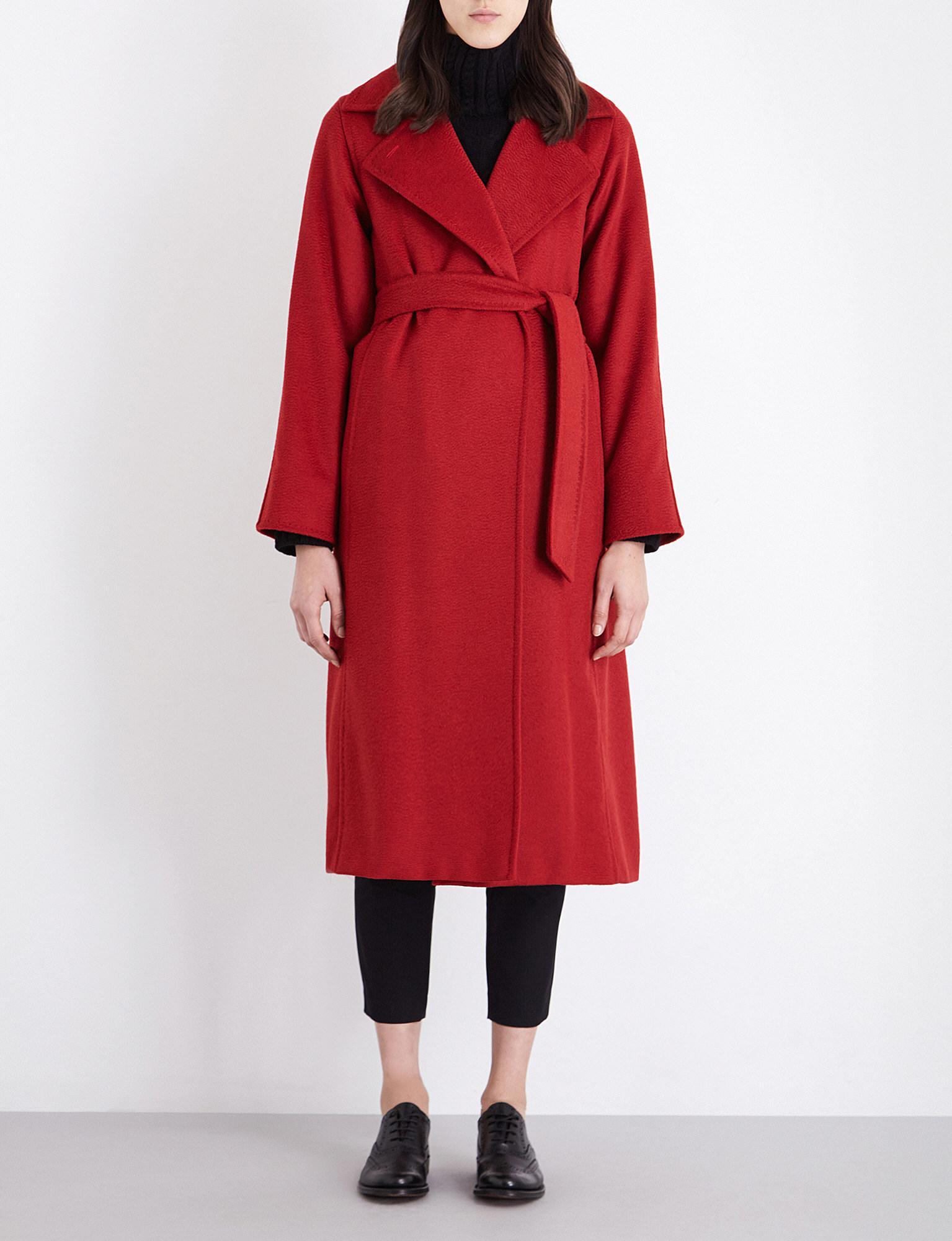 c031d556a905 Lyst - Max Mara Manuela Camel Hair Coat in Red - Save 45%