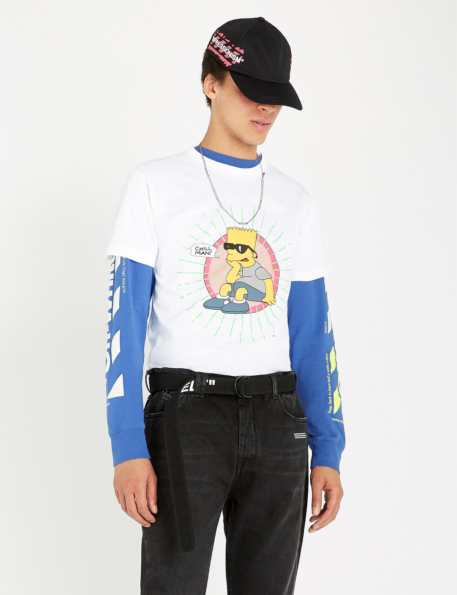 5a0ff981017 Off-White c/o Virgil Abloh The Simpsons Graphic-print Cotton-jersey ...