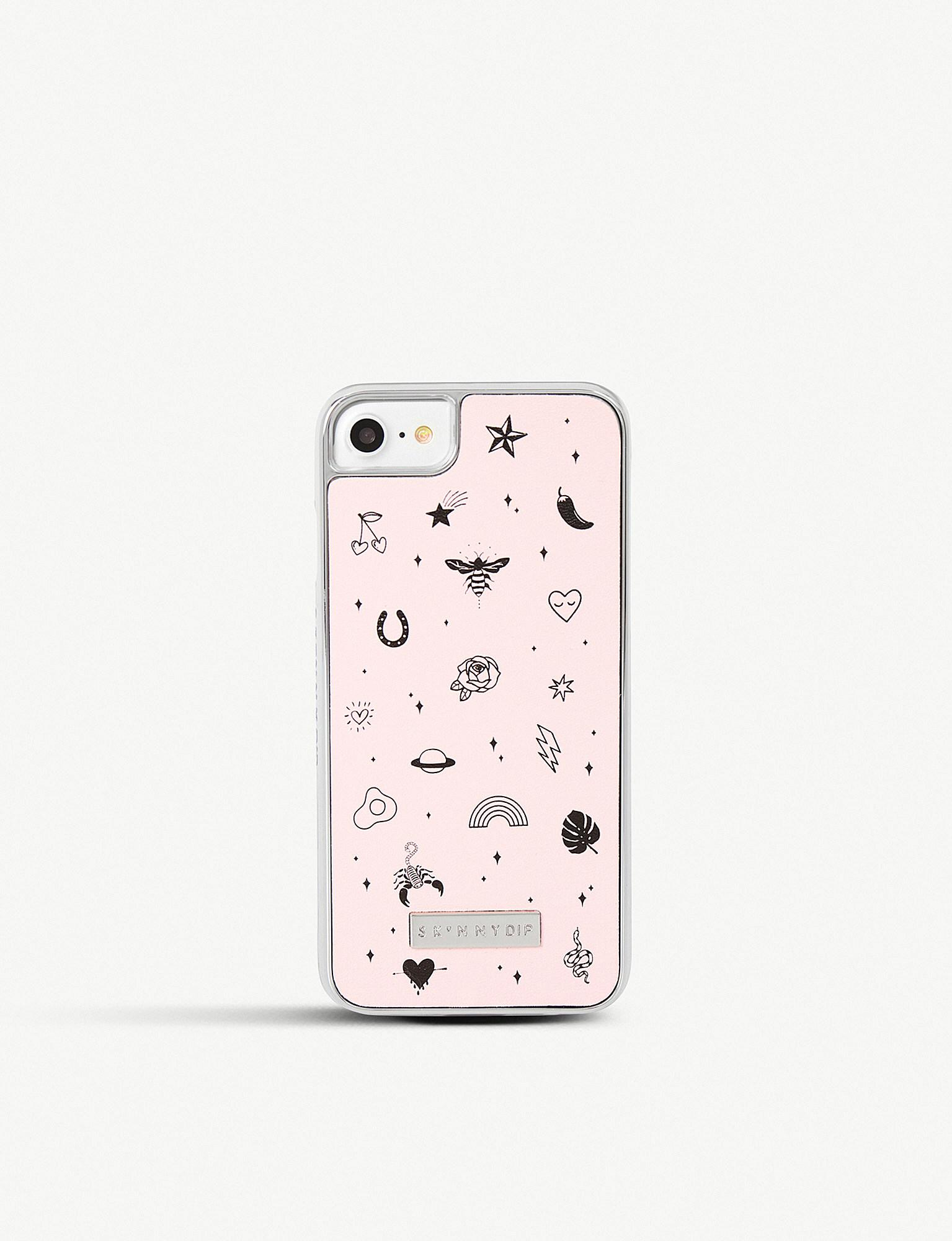 fa9fe95a8a Skinnydip London Jinx Faux-leather Iphone Case in Pink - Lyst
