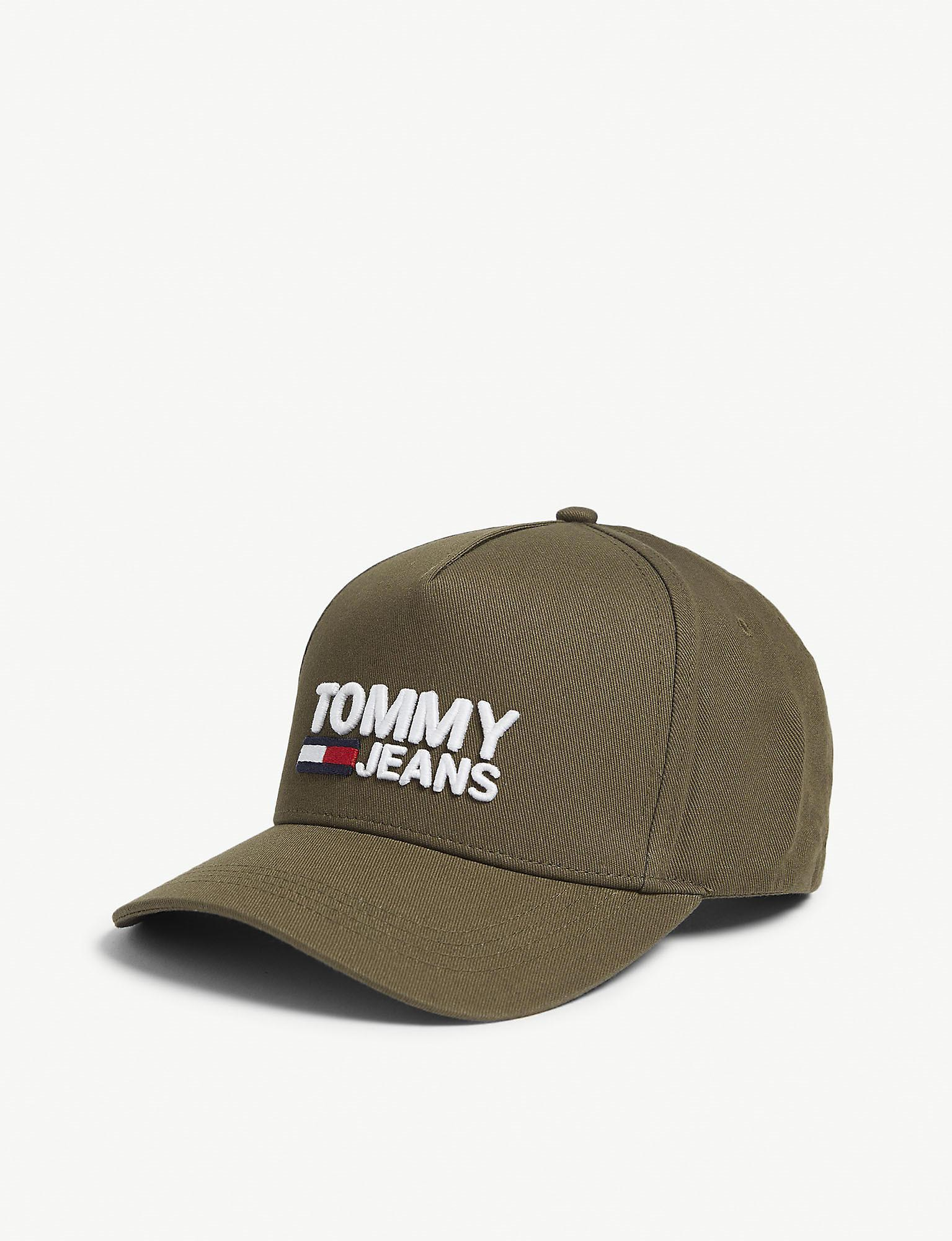 382997dc Tommy Hilfiger Logo-printed Cotton Baseball Cap in Green for Men - Lyst