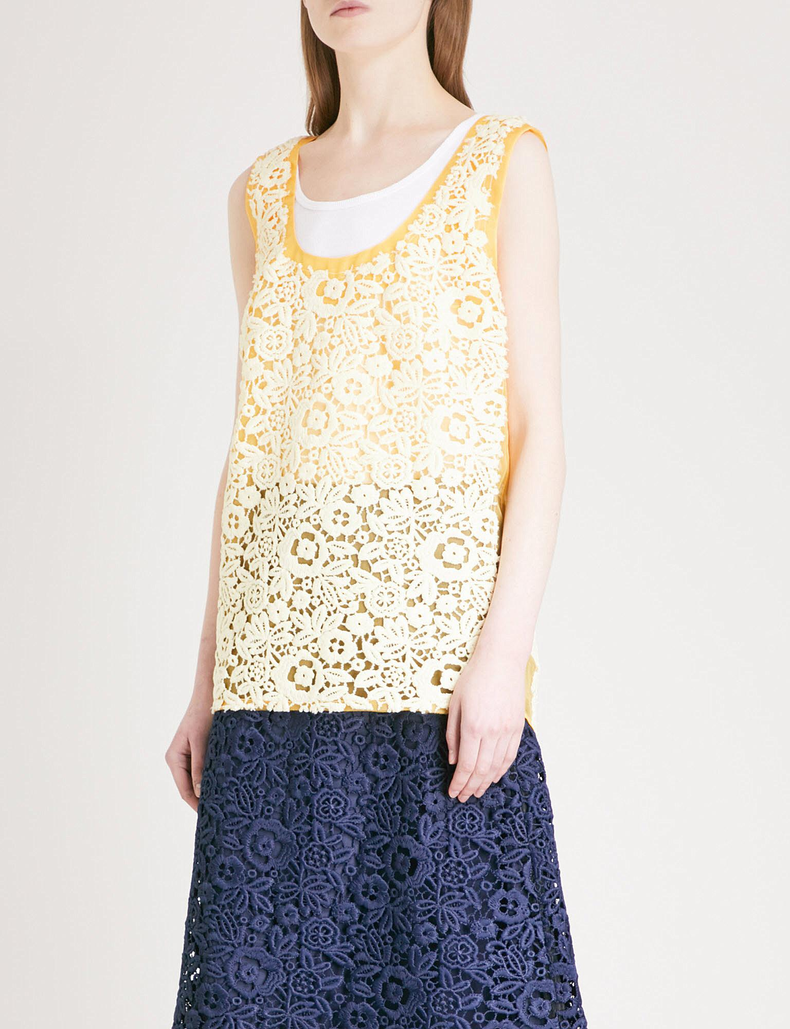 Embroidered silk top Miu Miu Outlet Sale XafMKrFs