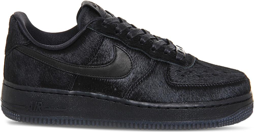 Nike Air Force 1 07 Black Pony Hair Pack