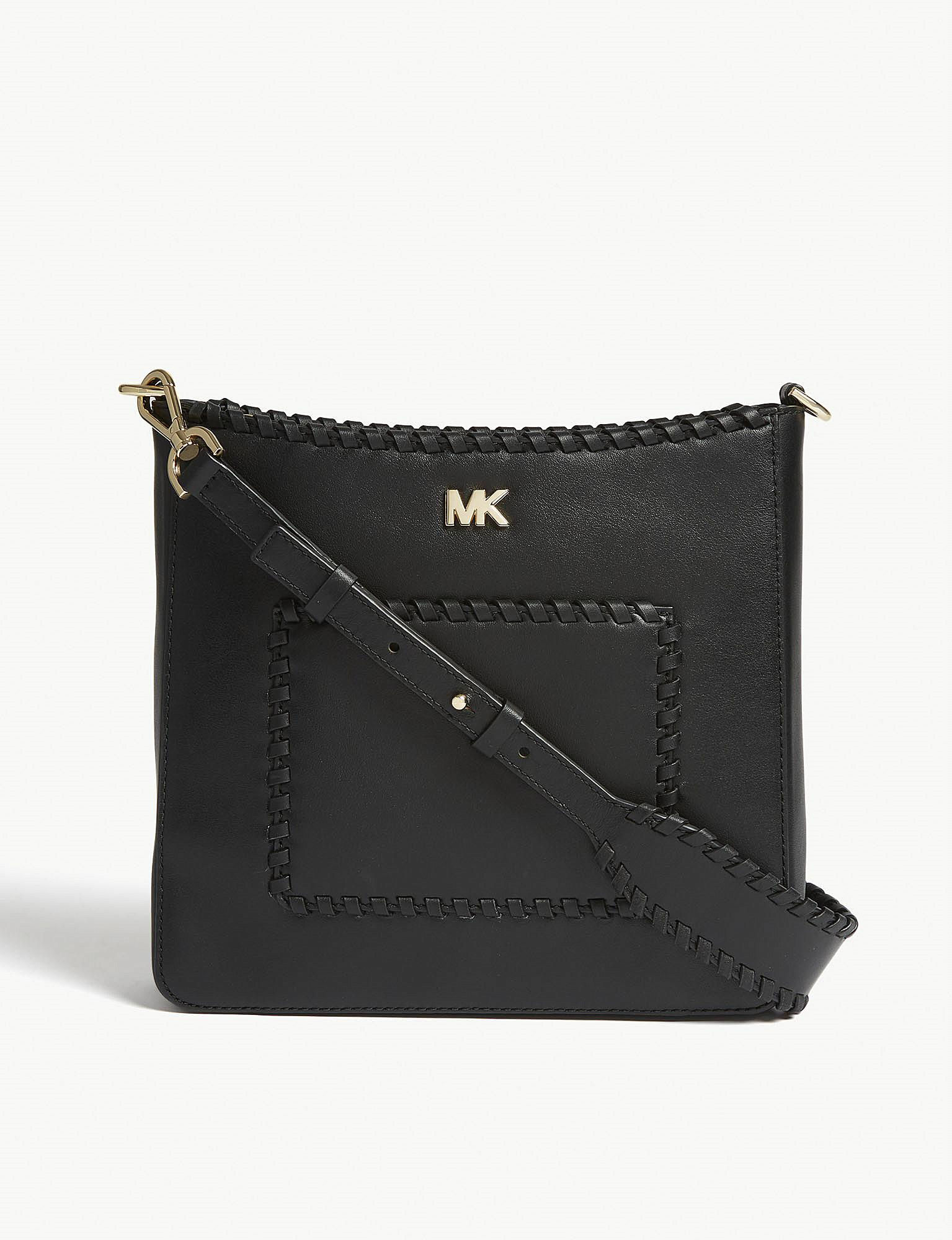 657f01edf83c Michael Michael Kors Gloria Whipstitched Messenger Bag in Black ...