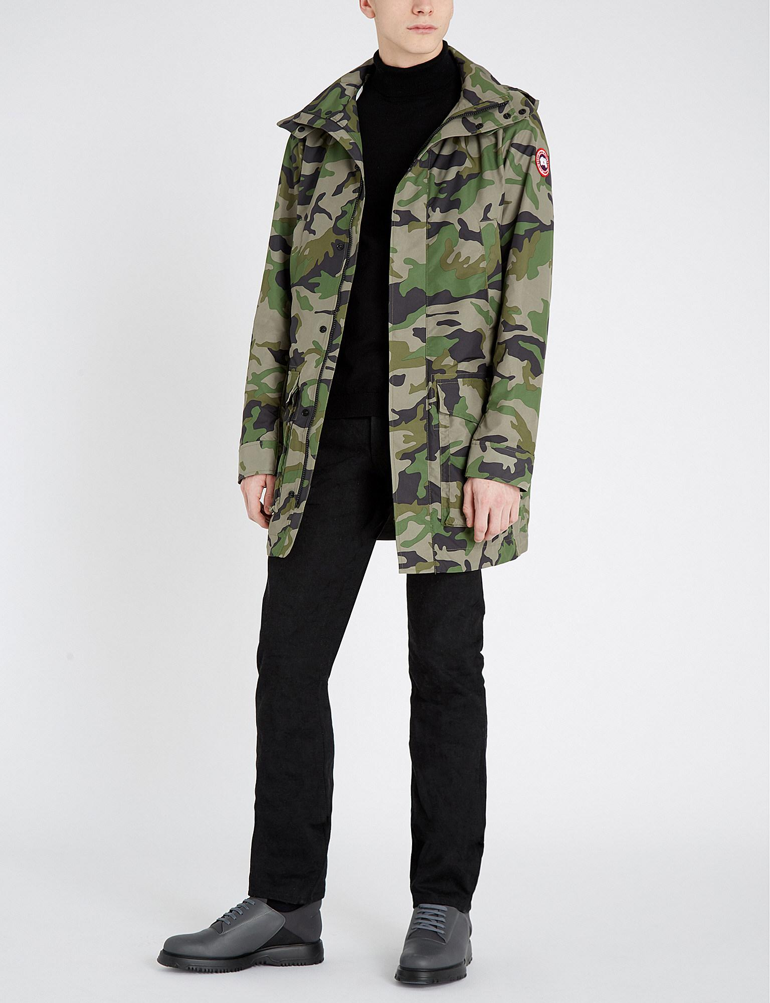 bdb9677c55be9 Lyst - Canada Goose Crew Camouflage-print Shell Hooded Coat in Green ...