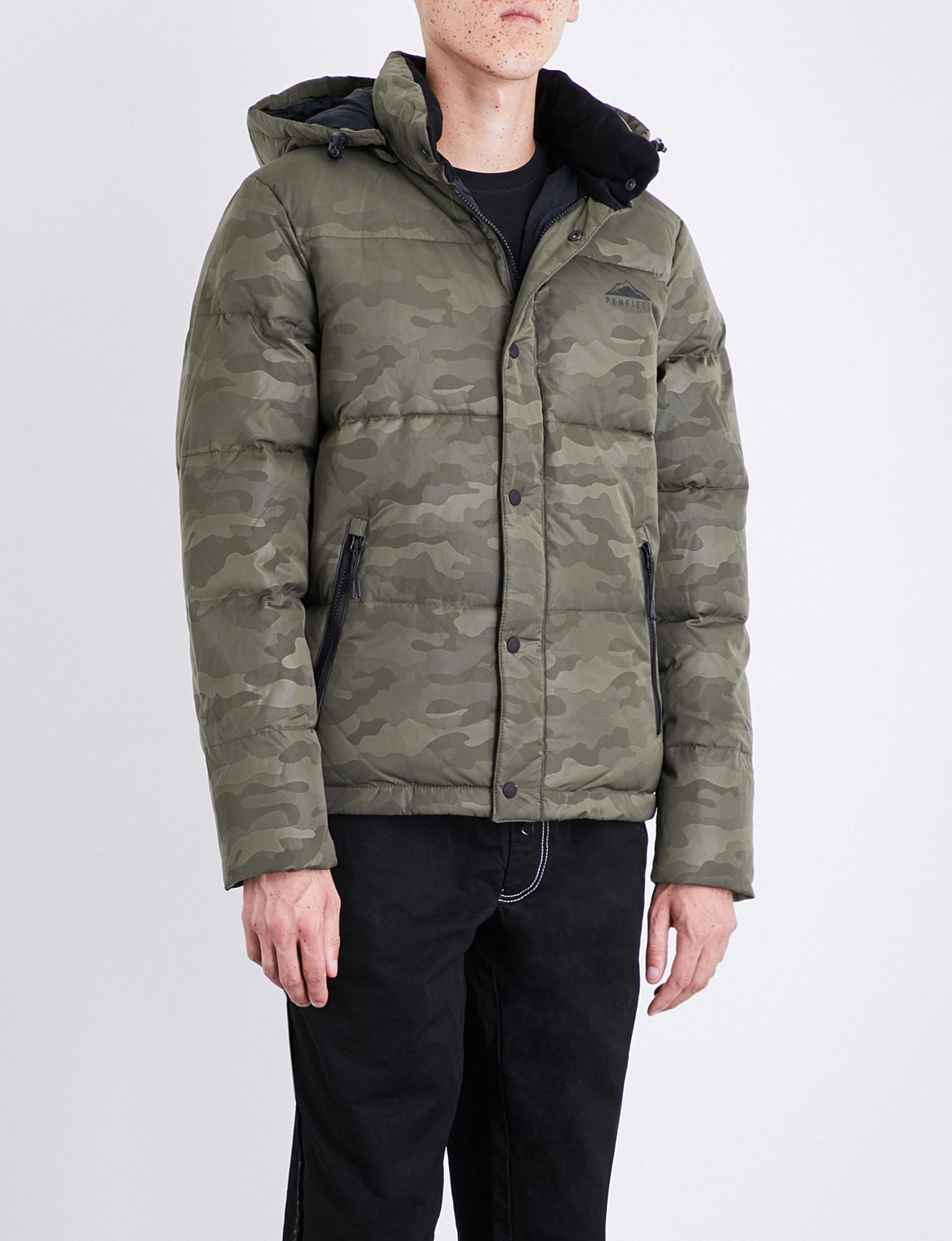 d0f793439cbfe Penfield Camouflage-print Equinox Shell-down Jacket in Green for Men ...