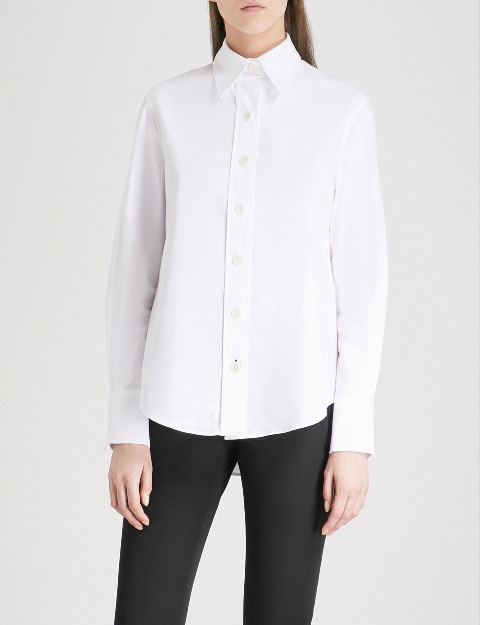 9a5b15215e7 Lyst - JOSEPH Garcon Cotton Shirt in White