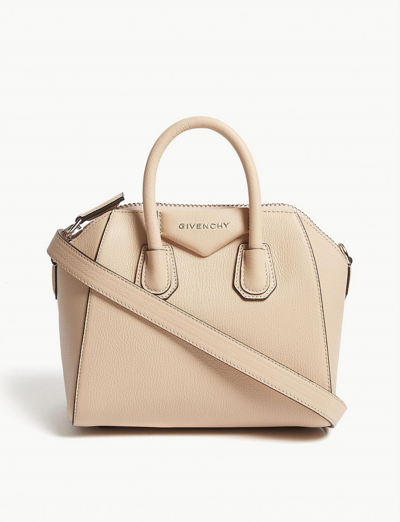 6b6e0ce27a41 Lyst - Givenchy Antigona Mini Grained Leather Tote Bag in Natural