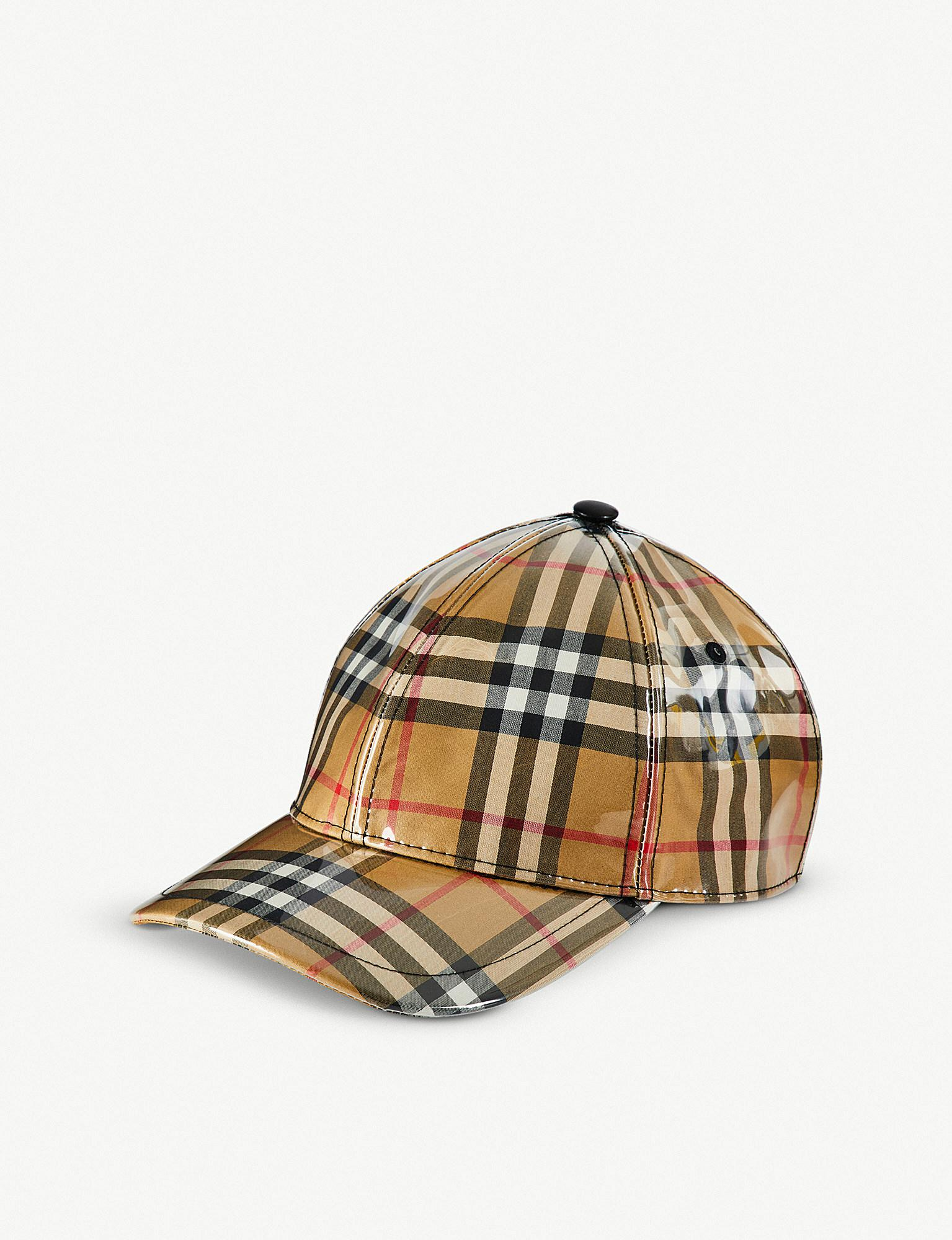 3f42b6be Burberry Vintage Check Pvc Baseball Cap for Men - Lyst