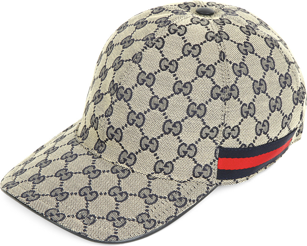 Lyst - Gucci Monogram Canvas Baseball Cap in Gray for Men 39aee0c62e3