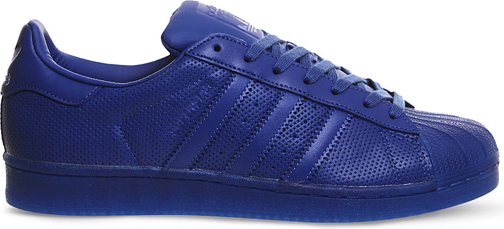 adidas originals superstar 1 leather trainers in blue for. Black Bedroom Furniture Sets. Home Design Ideas
