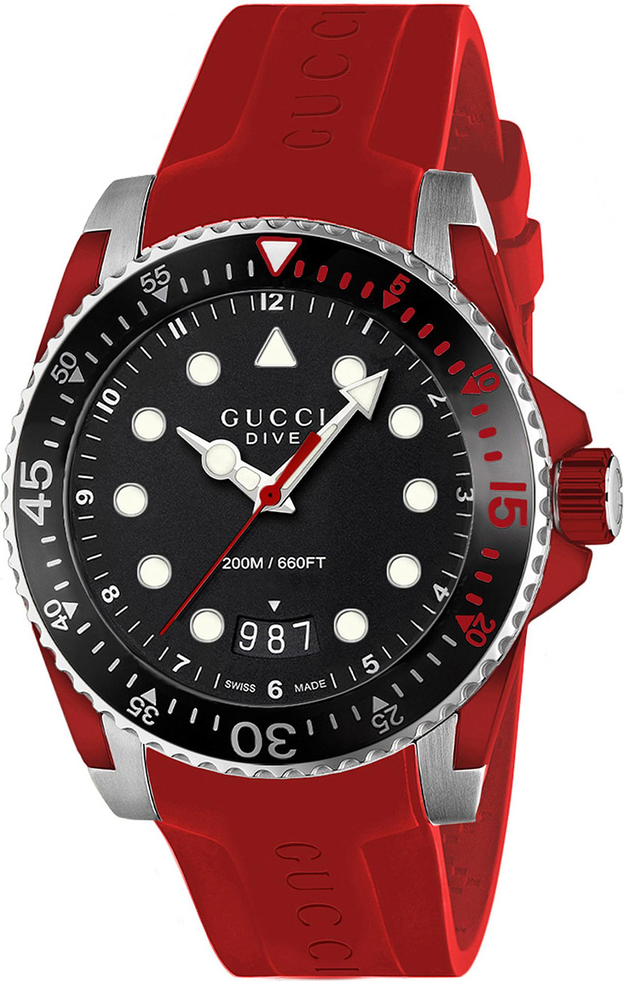 1d2599b68c8 Gucci Ya136309 Dive Stainless Steel And Rubber Watch in Black for ...