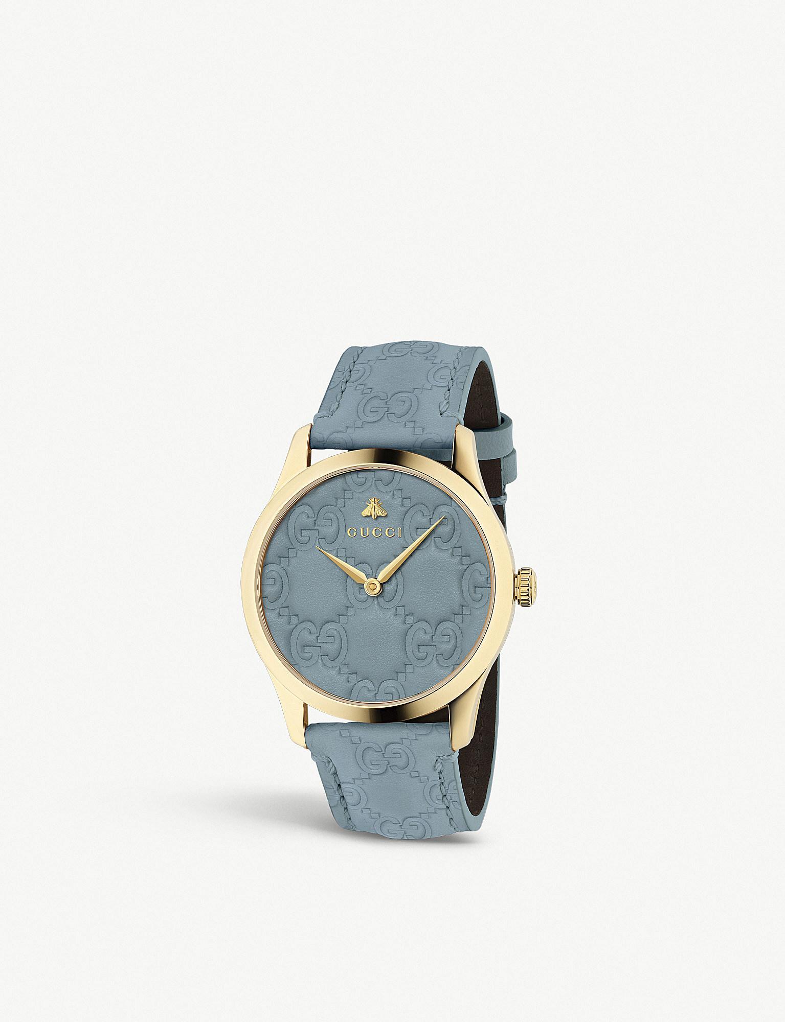 4a43928666a Gucci - Ya1264097 G-timeless Yellow-gold Pvd Watch - Lyst. View fullscreen