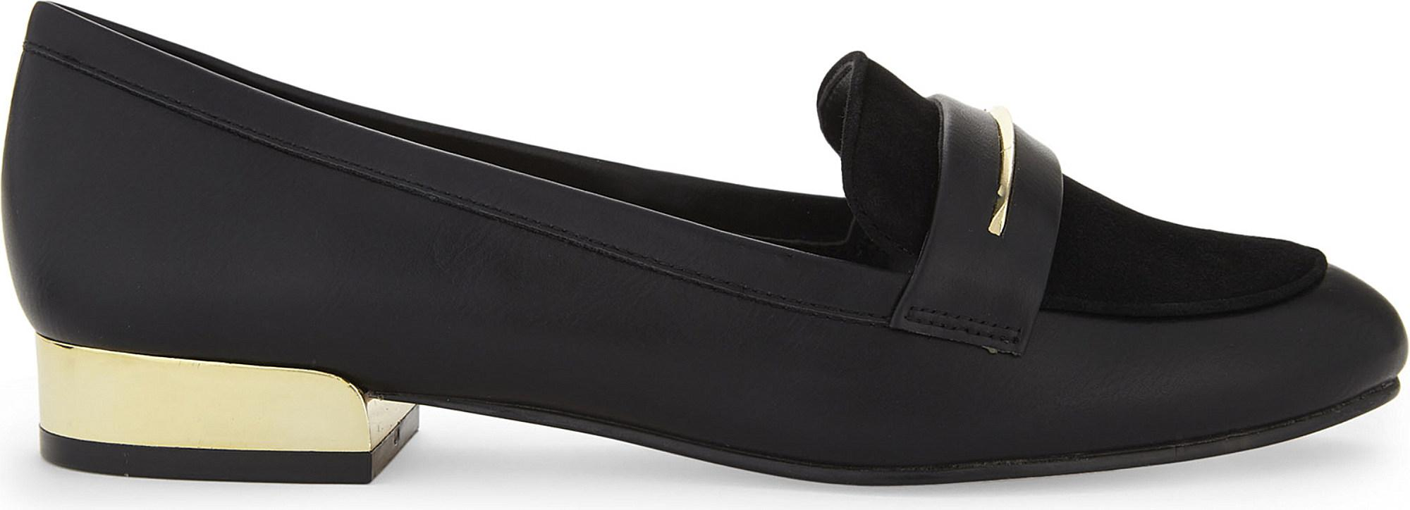 a9ab5cfc908 Lyst - ALDO Claurinda Faux-leather Loafers in Black
