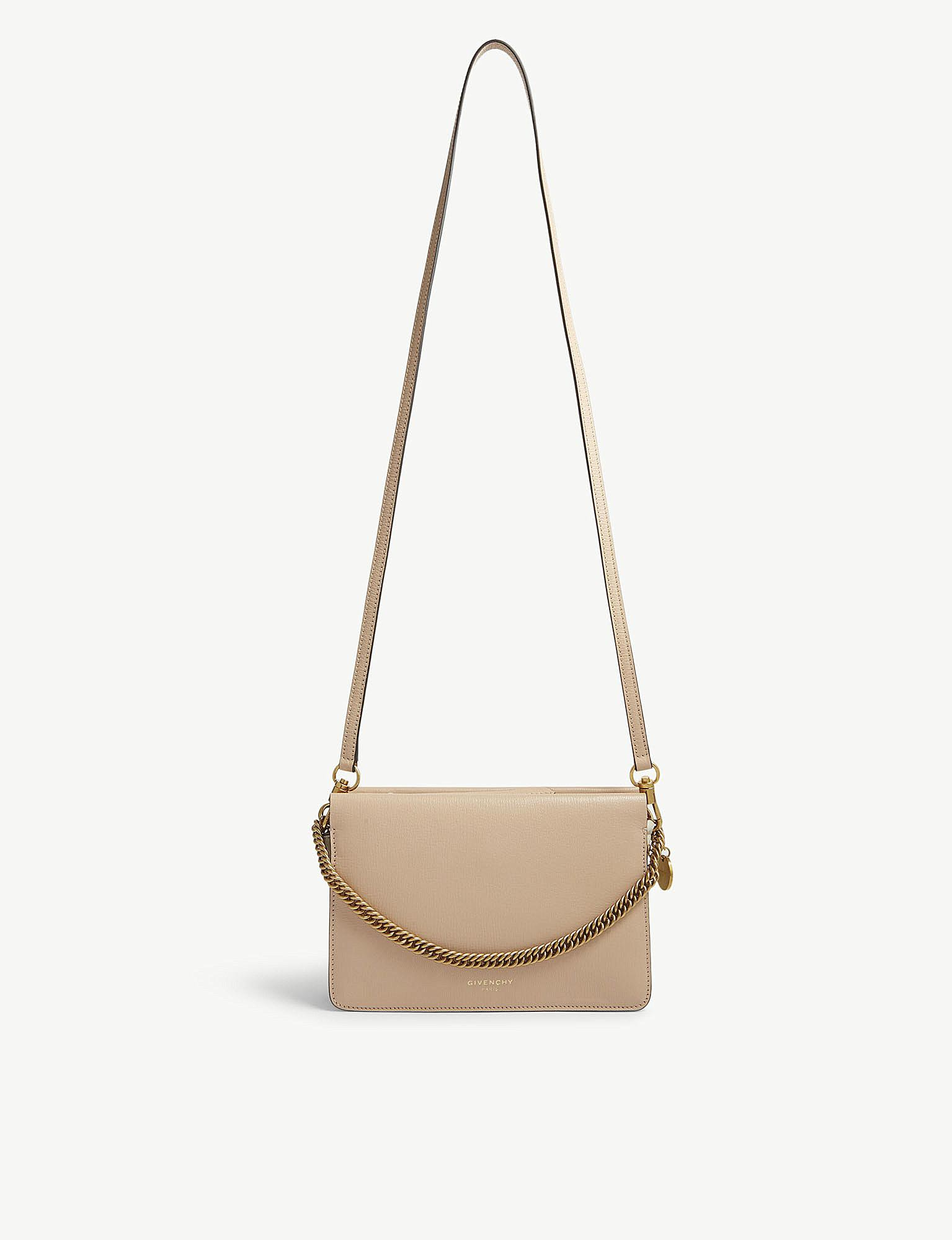 461d5e894f Givenchy Nude Pink Cross 3 Leather And Suede Shoulder Bag in Natural ...