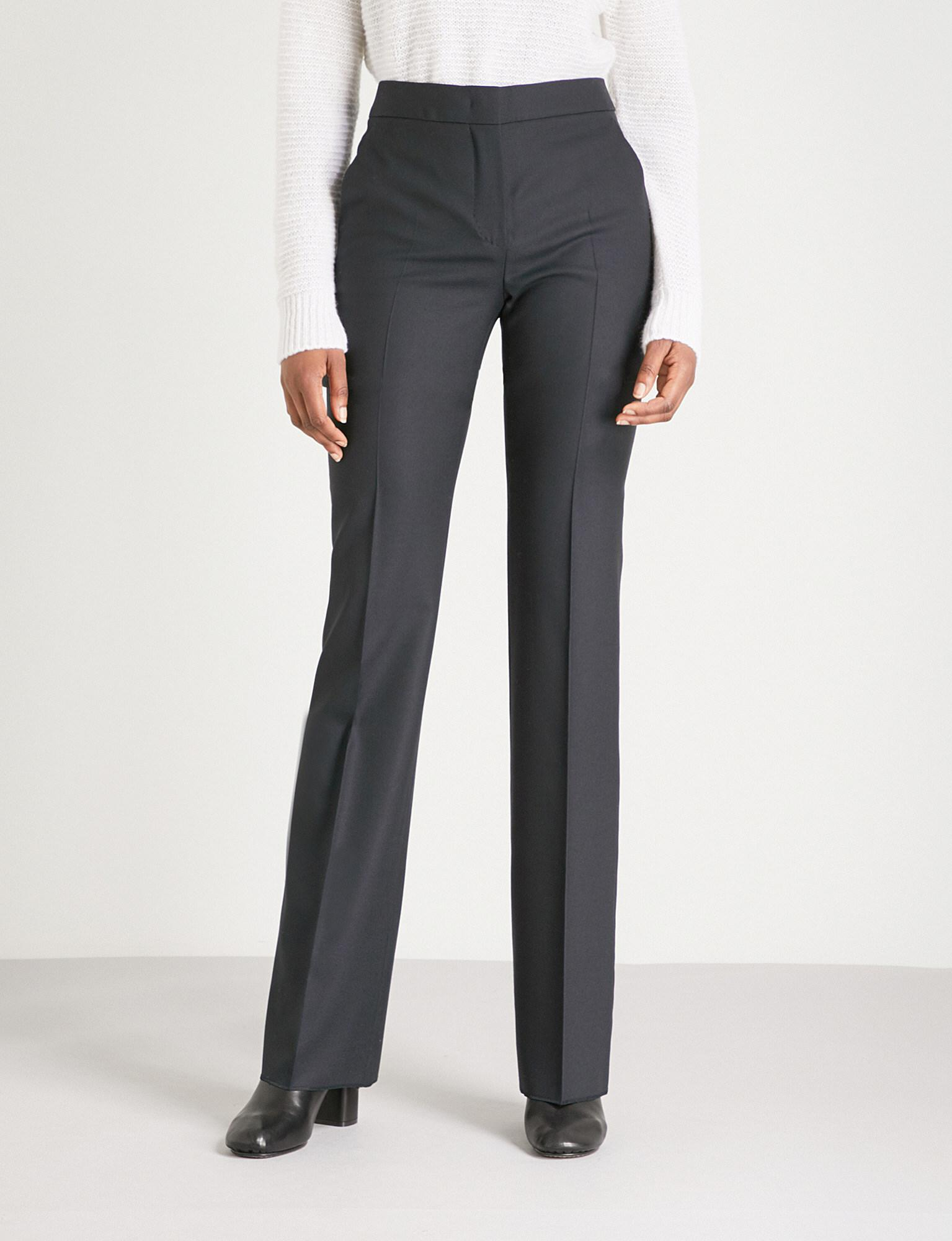 Free Shipping Official MaxMara High-Rise Silk-Blend Pants Clearance Collections Really Sale Online 8G6iU