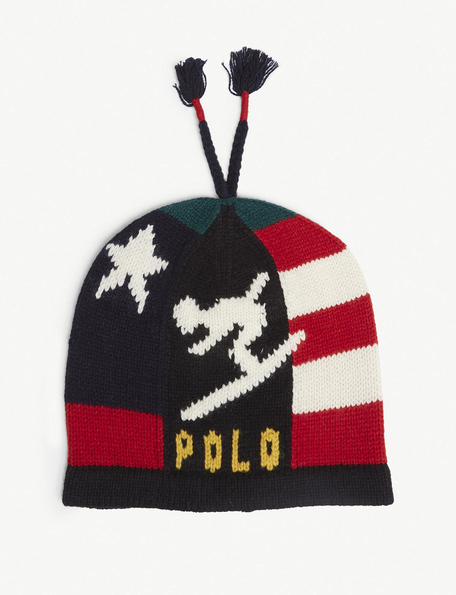 Polo Ralph Lauren Stadium Ski Wool-blend Beanie Hat in Red for Men ... e6b4d3bab716