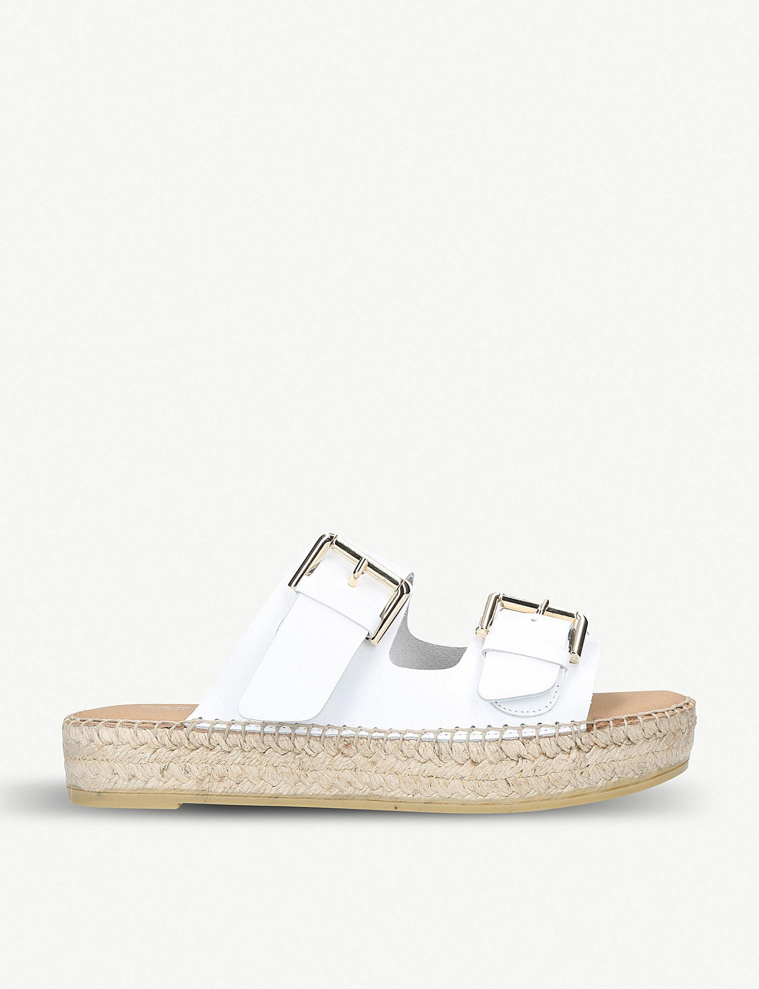 cca3018f35edea Carvela Kurt Geiger Klever Leather Flatform Espadrille Sandals in ...