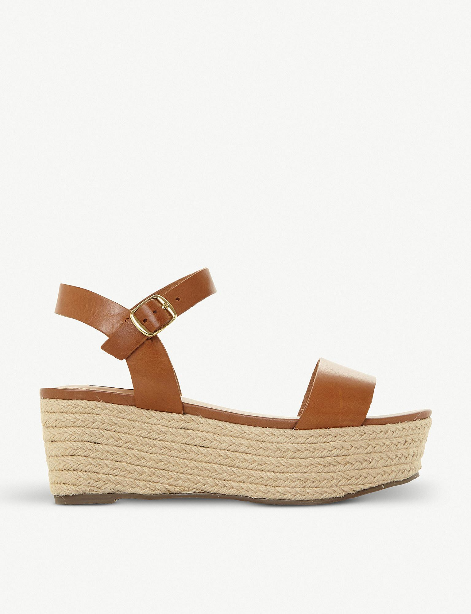 c44c89e3dec Lyst - Steve Madden Busy Sm Leather And Jute Platform Sandals in Brown