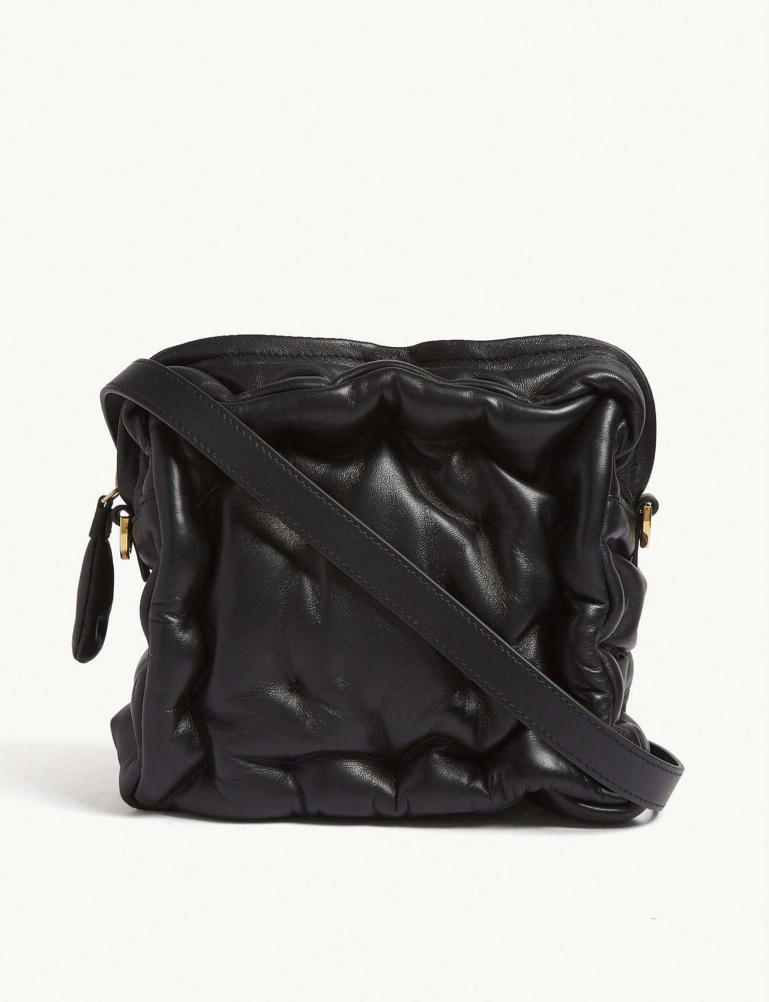 Chubby Barrel Crossbody Bag in Blue Quilted Calf Leather Anya Hindmarch 5Li5MgeUYT