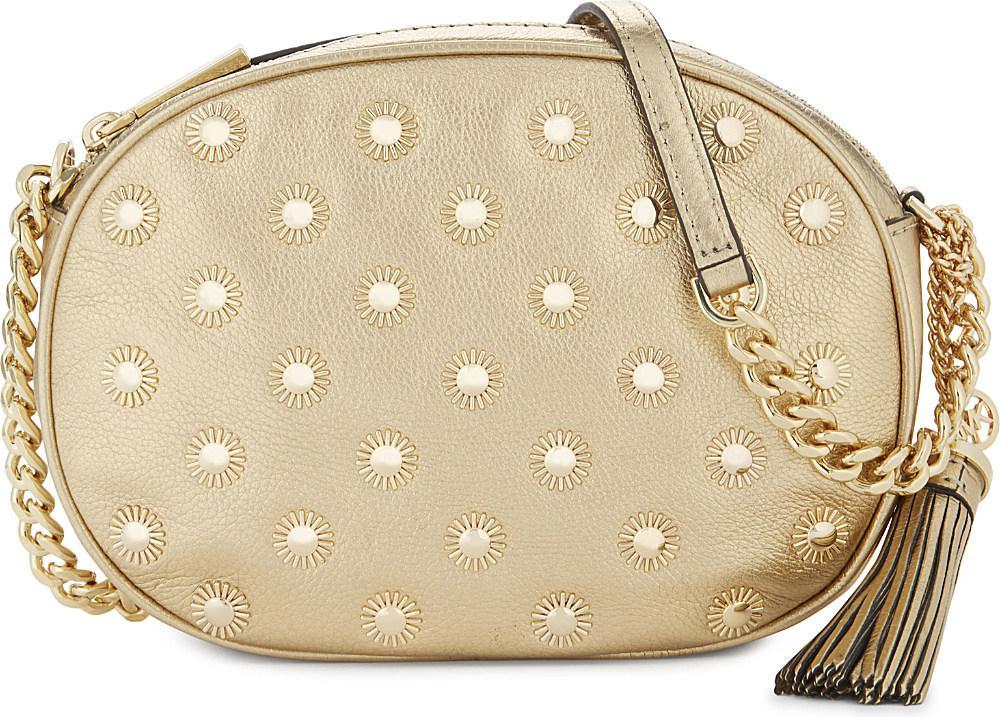 1ab2bd5800af MICHAEL Michael Kors Ginny Studded Medium Leather Cross-body Bag in ...