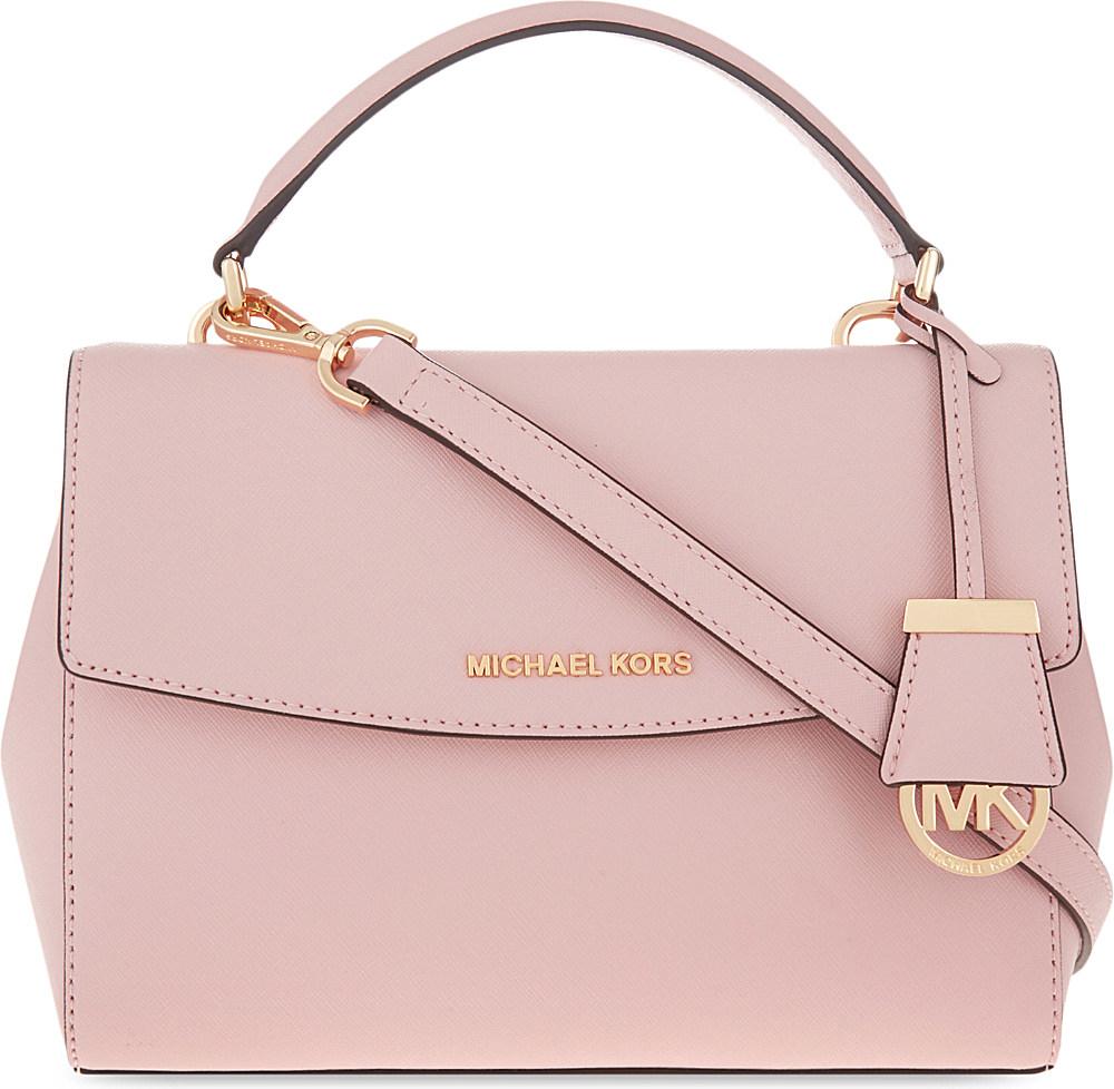 c3203abd939e Lyst - MICHAEL Michael Kors Ava Small Saffiano Leather Satchel in Pink