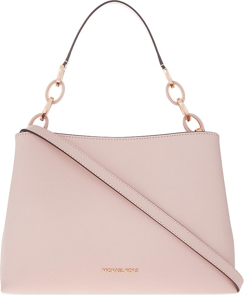 ec8552242b68 MICHAEL Michael Kors Portia Large Saffiano Leather Shoulder Bag in ...