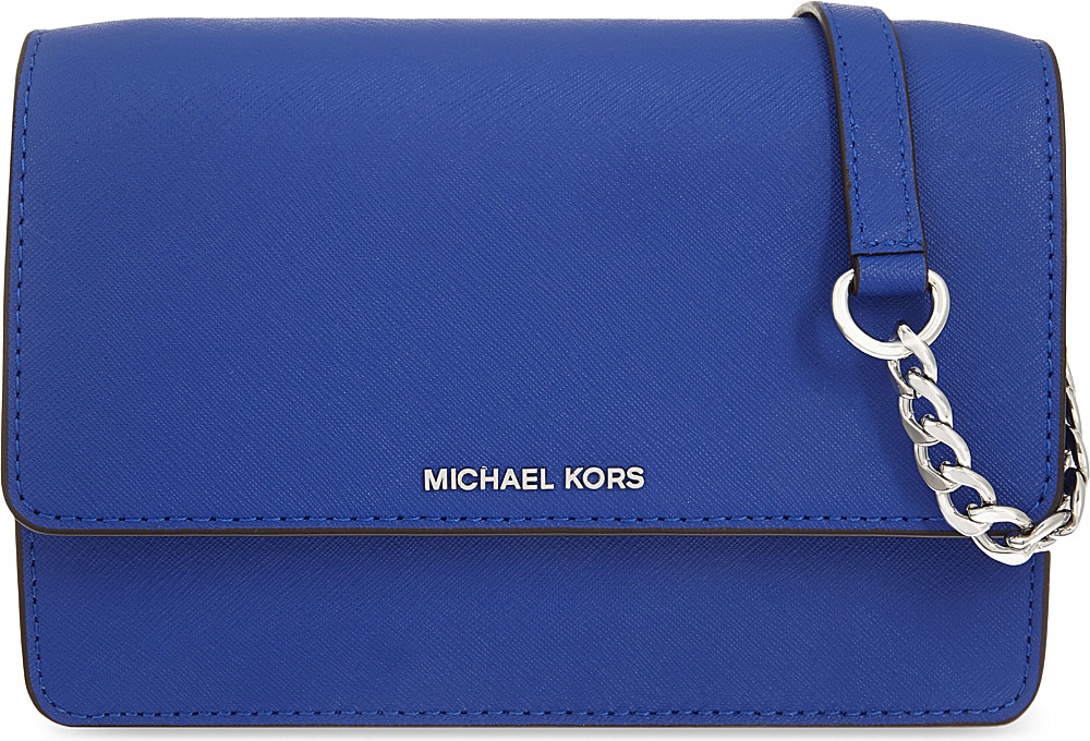 e1034b2b1467 MICHAEL Michael Kors Daniela Small Leather Cross-body Bag in Blue - Lyst