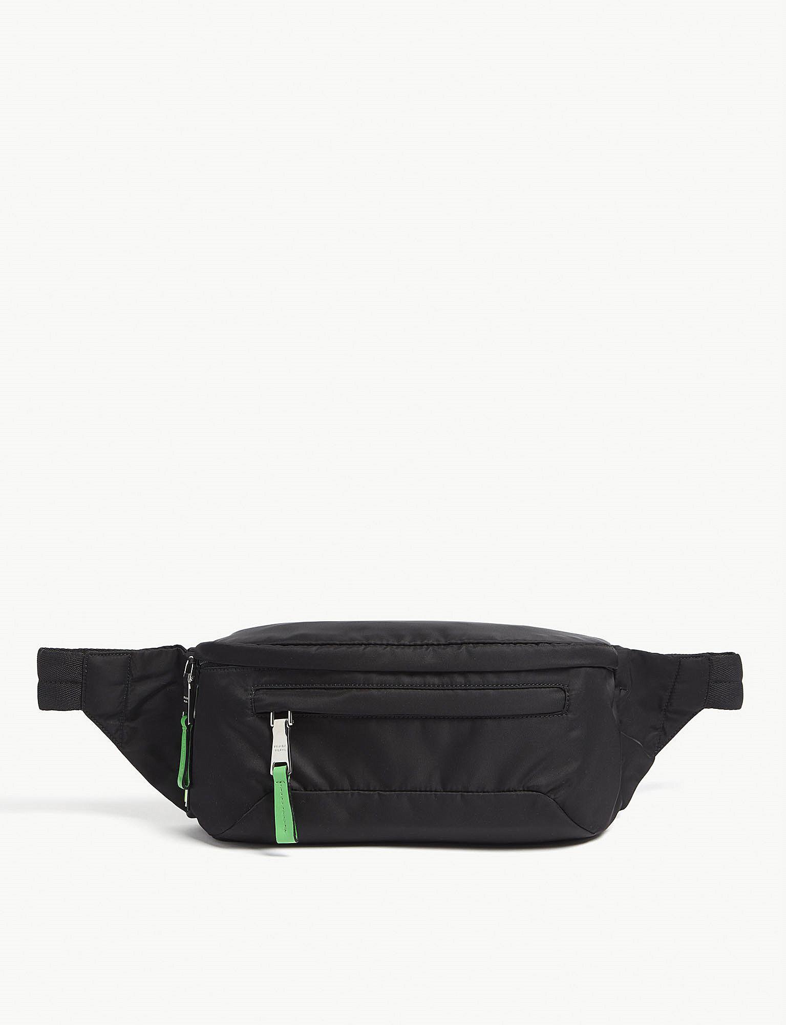 b23e762badba Prada Fluorescent Logo Nylon Belt Bag in Black for Men - Lyst