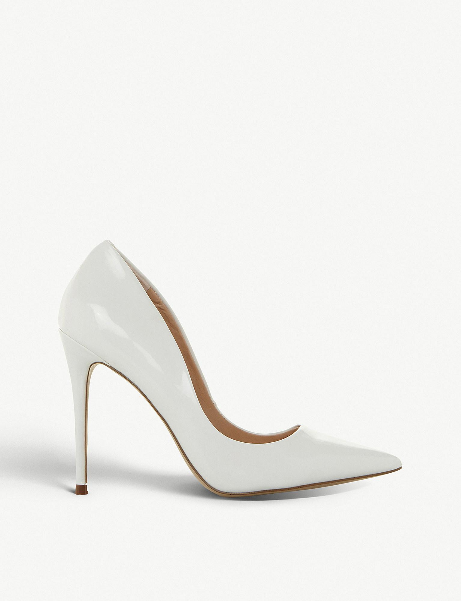 92f961adab1 Lyst - Steve Madden Daisie Pointed Toe Stiletto Heel Courts in White