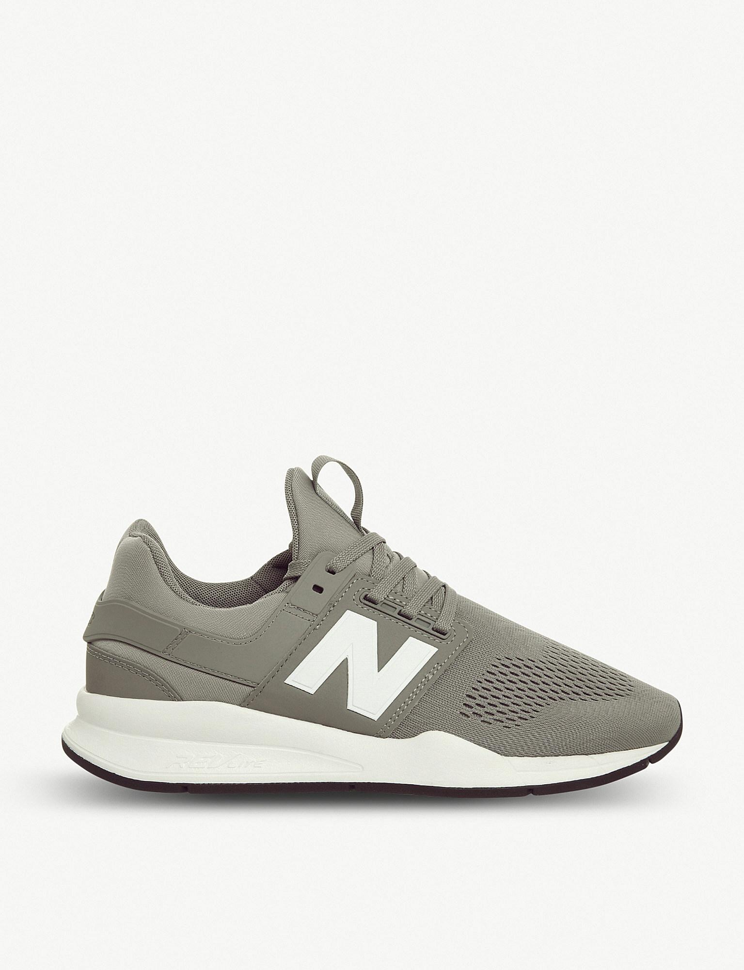 New Balance 247v2 Leather And Mesh Trainers in Gray for Men - Lyst 3697c282994f4