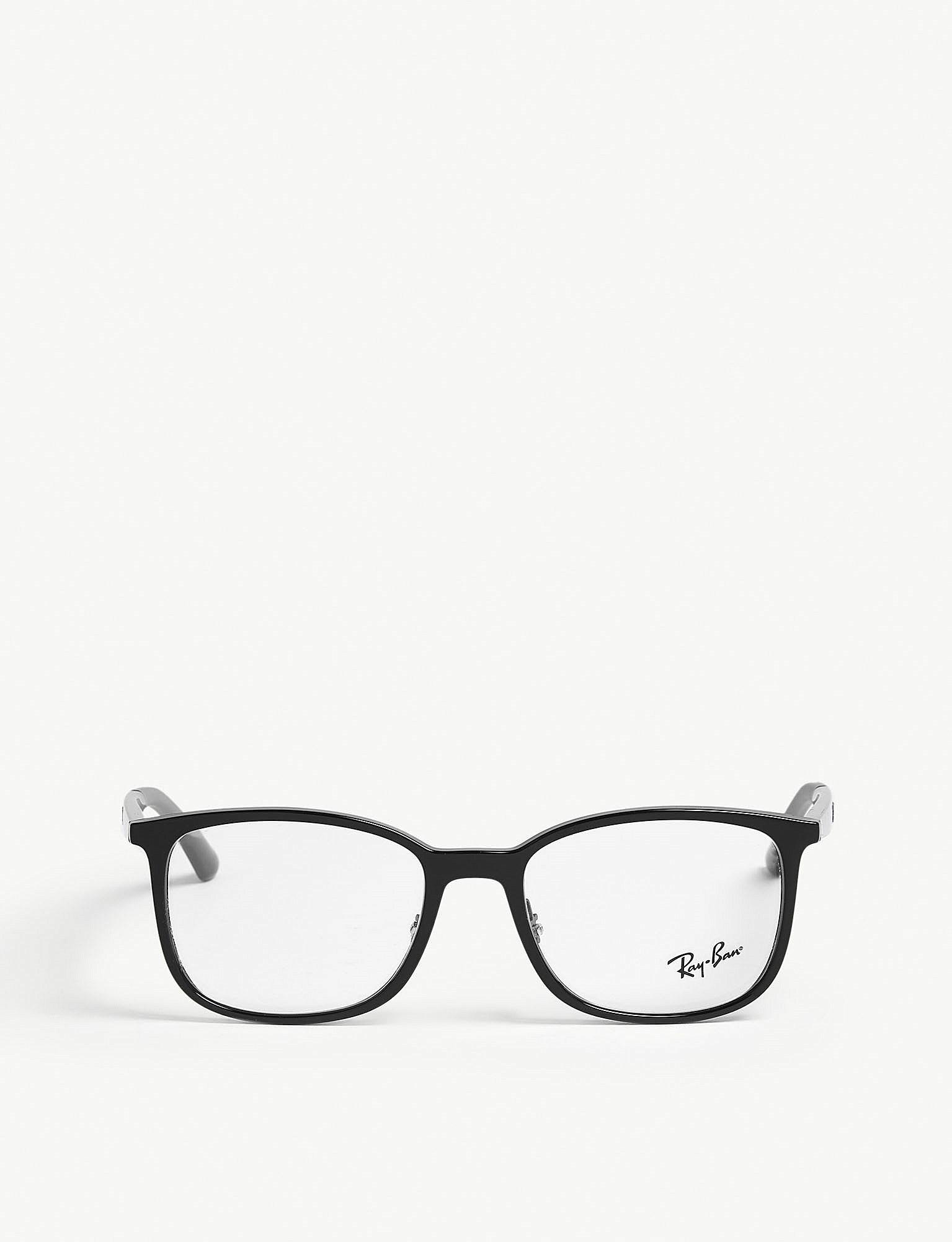 lyst ray ban rb7142 square frame optical glasses in black for men Oakley Amber Polarized Lenses view fullscreen