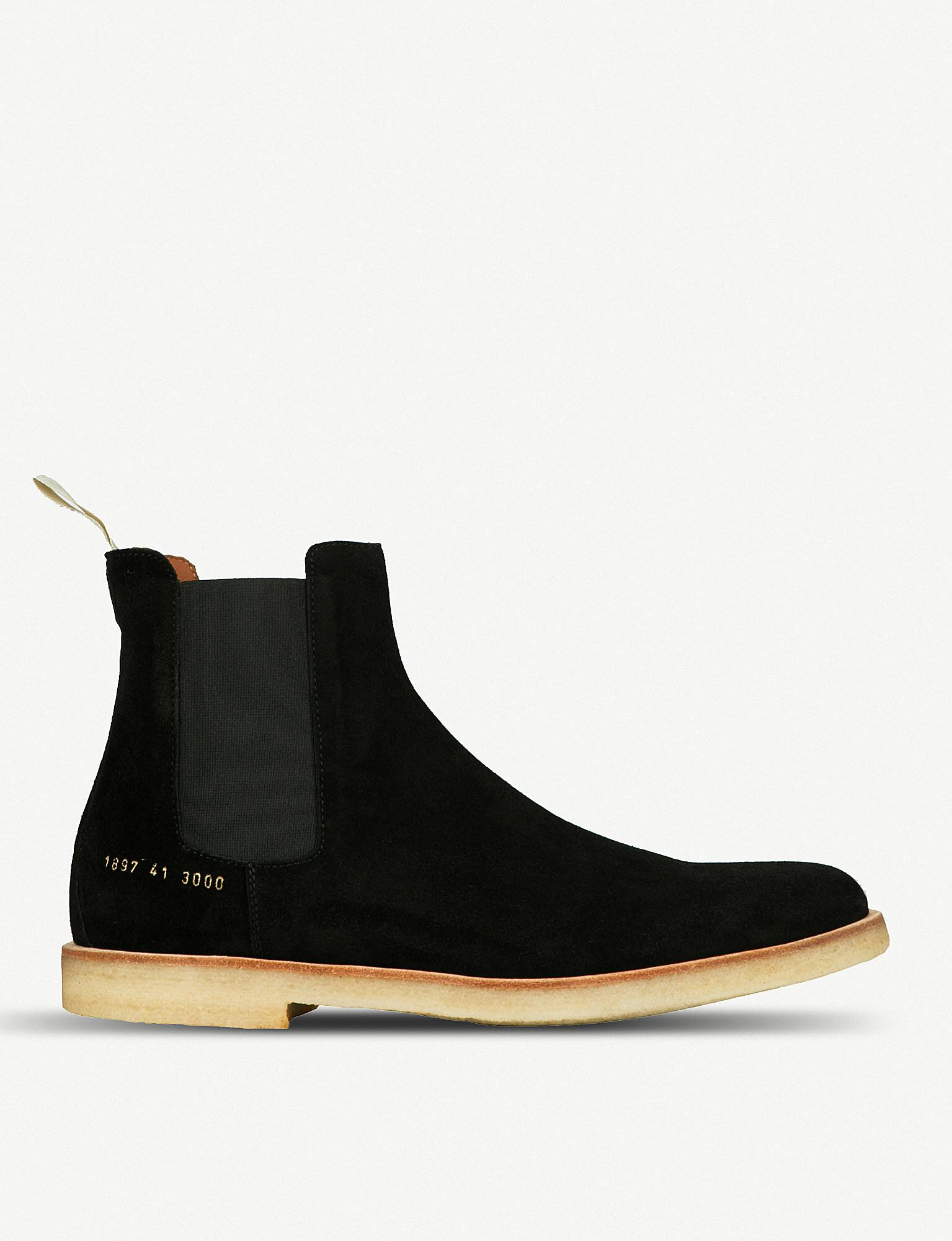Common Projects Leather Round-Toe Boots sale top quality pETl1HC